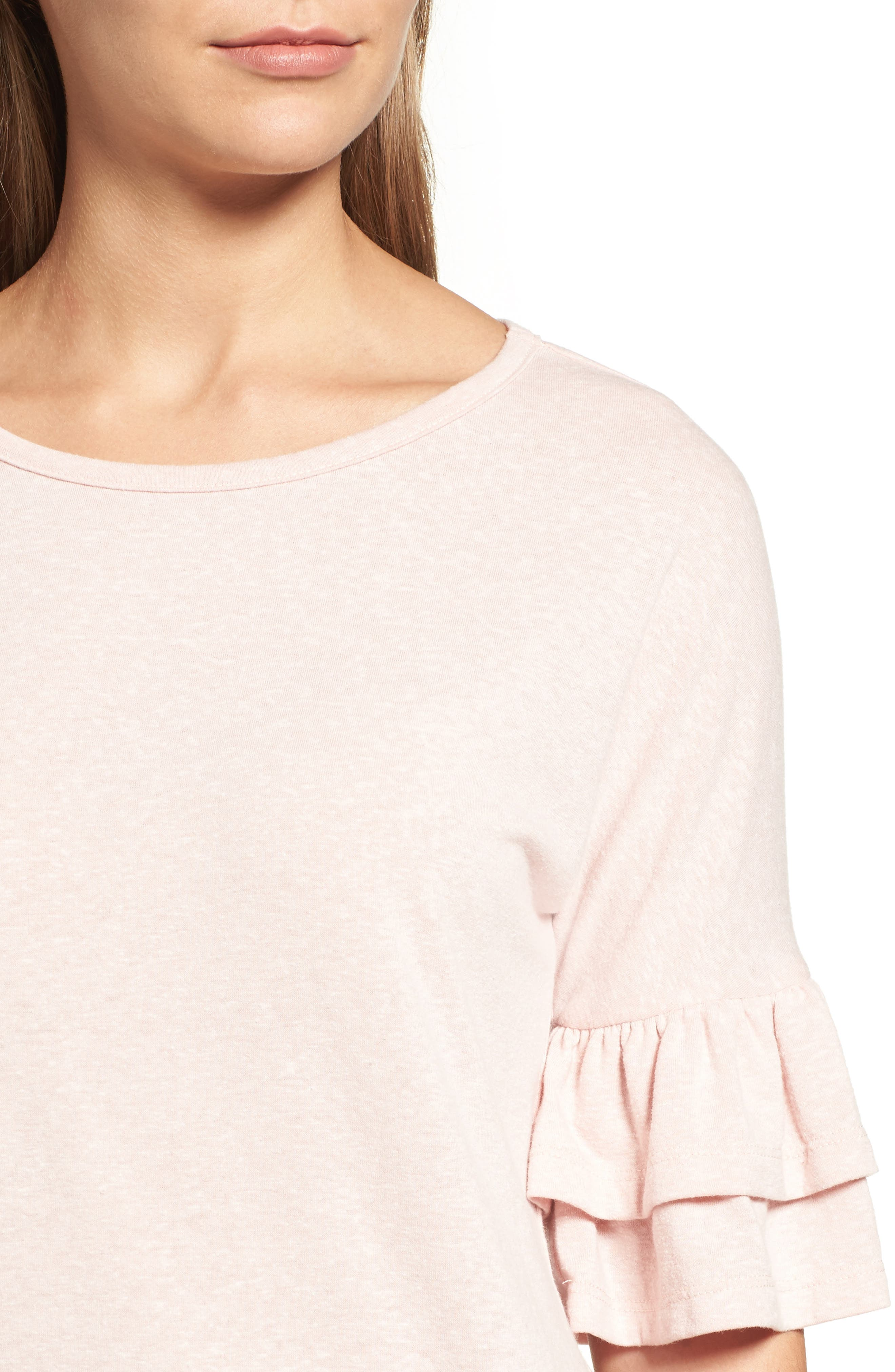Tiered Bell Sleeve Tee,                             Alternate thumbnail 32, color,