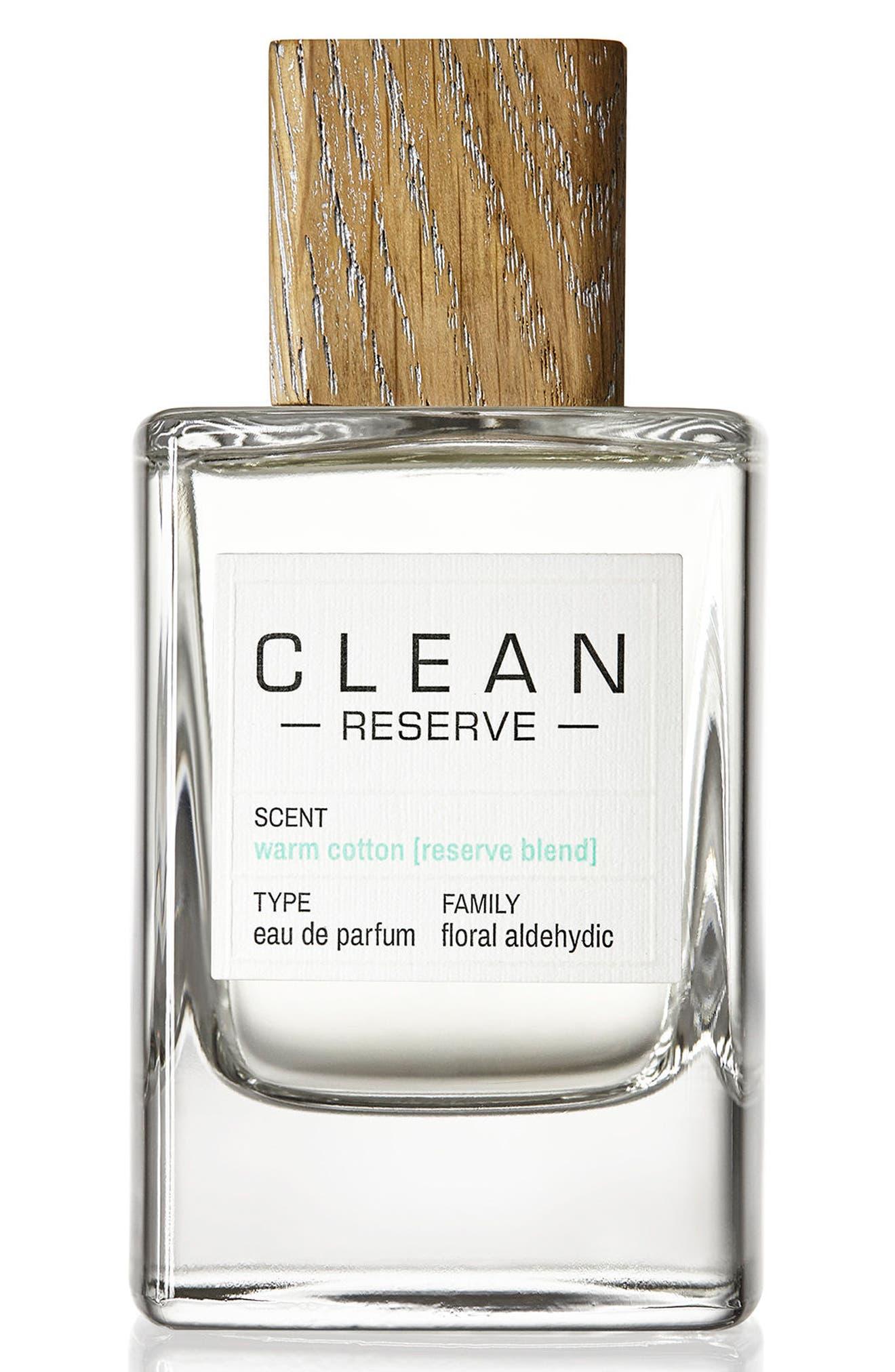 Reserve Blend Warm Cotton Eau de Parfum,                             Main thumbnail 1, color,                             NO COLOR