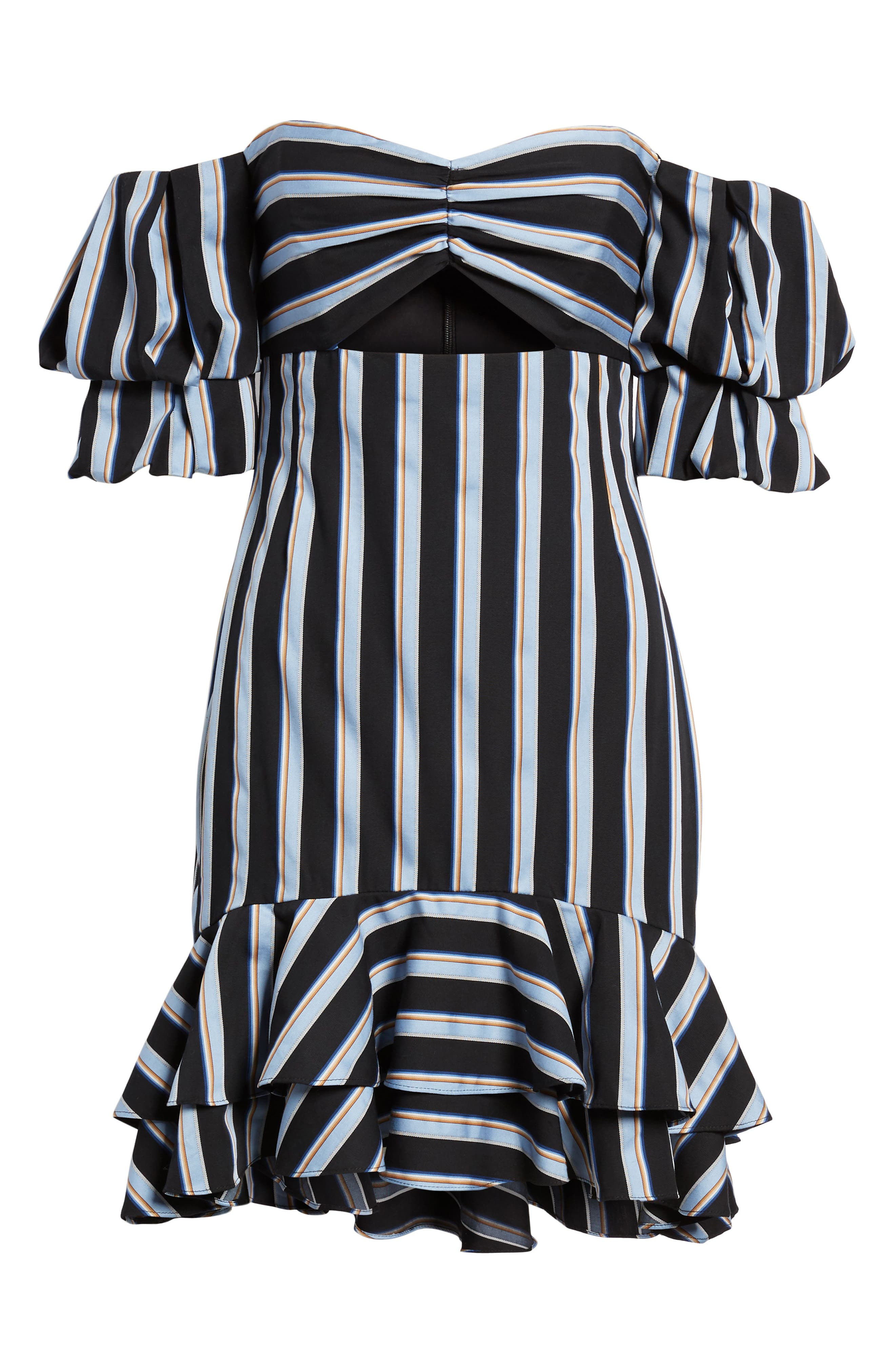 Tegan Off the Shoulder Dress,                             Alternate thumbnail 6, color,                             001