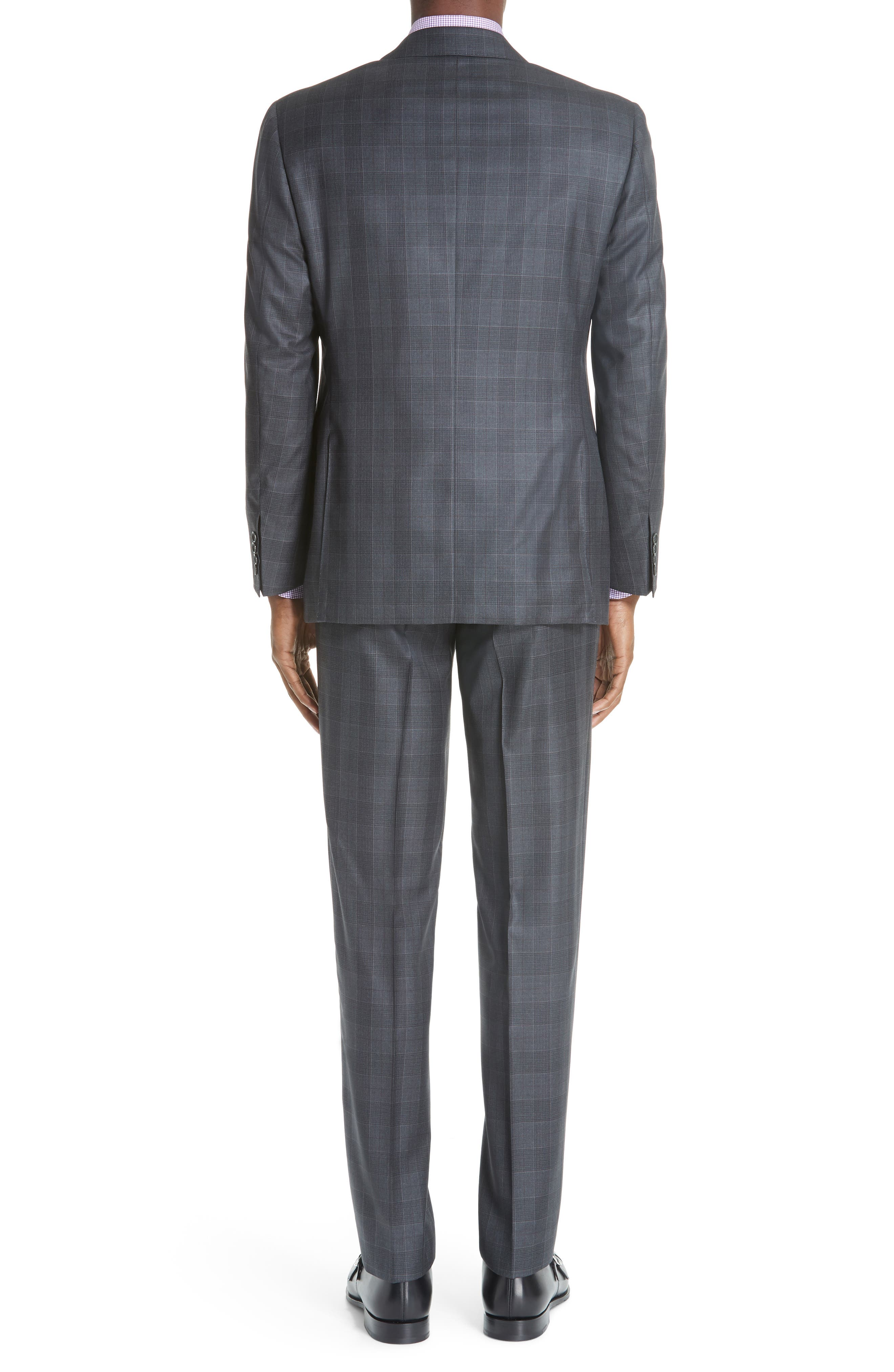 Classic Fit Plaid Wool Suit,                             Alternate thumbnail 2, color,                             020