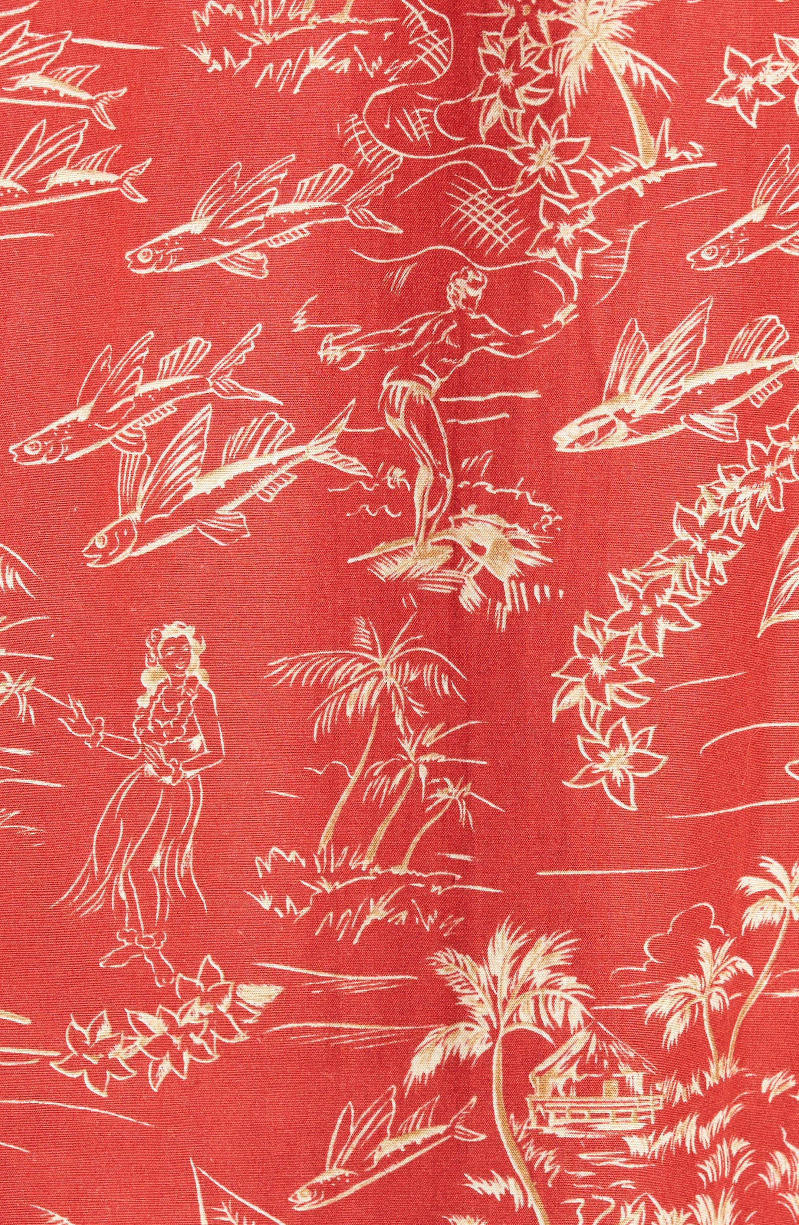 Konohiki Trim Fit Print Sport Shirt,                             Alternate thumbnail 5, color,                             605