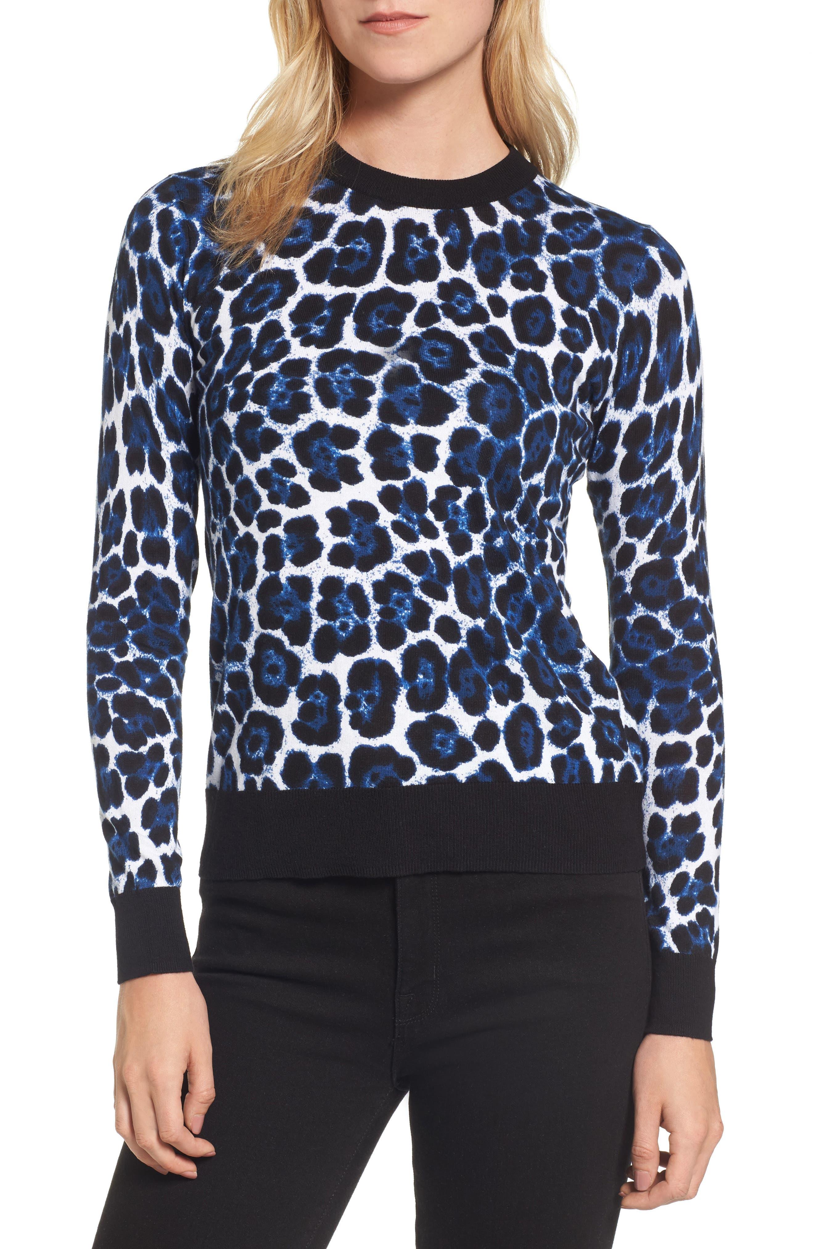 Cheetah Print Sweater,                             Main thumbnail 1, color,                             403