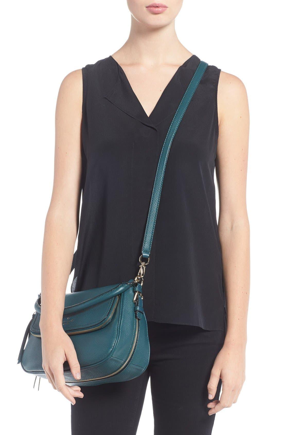 cobble hill - deva leather crossbody bag,                             Alternate thumbnail 13, color,