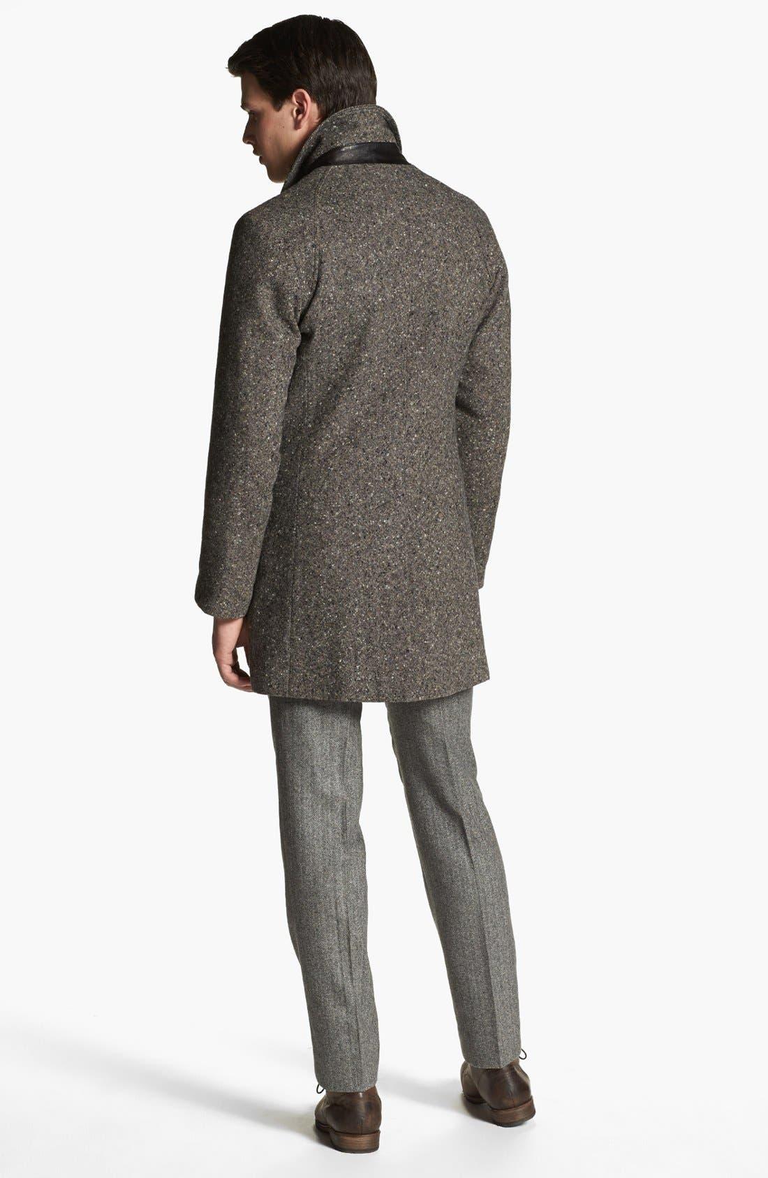 BILLY REID,                             'Astor' Tweed Overcoat,                             Alternate thumbnail 4, color,                             092