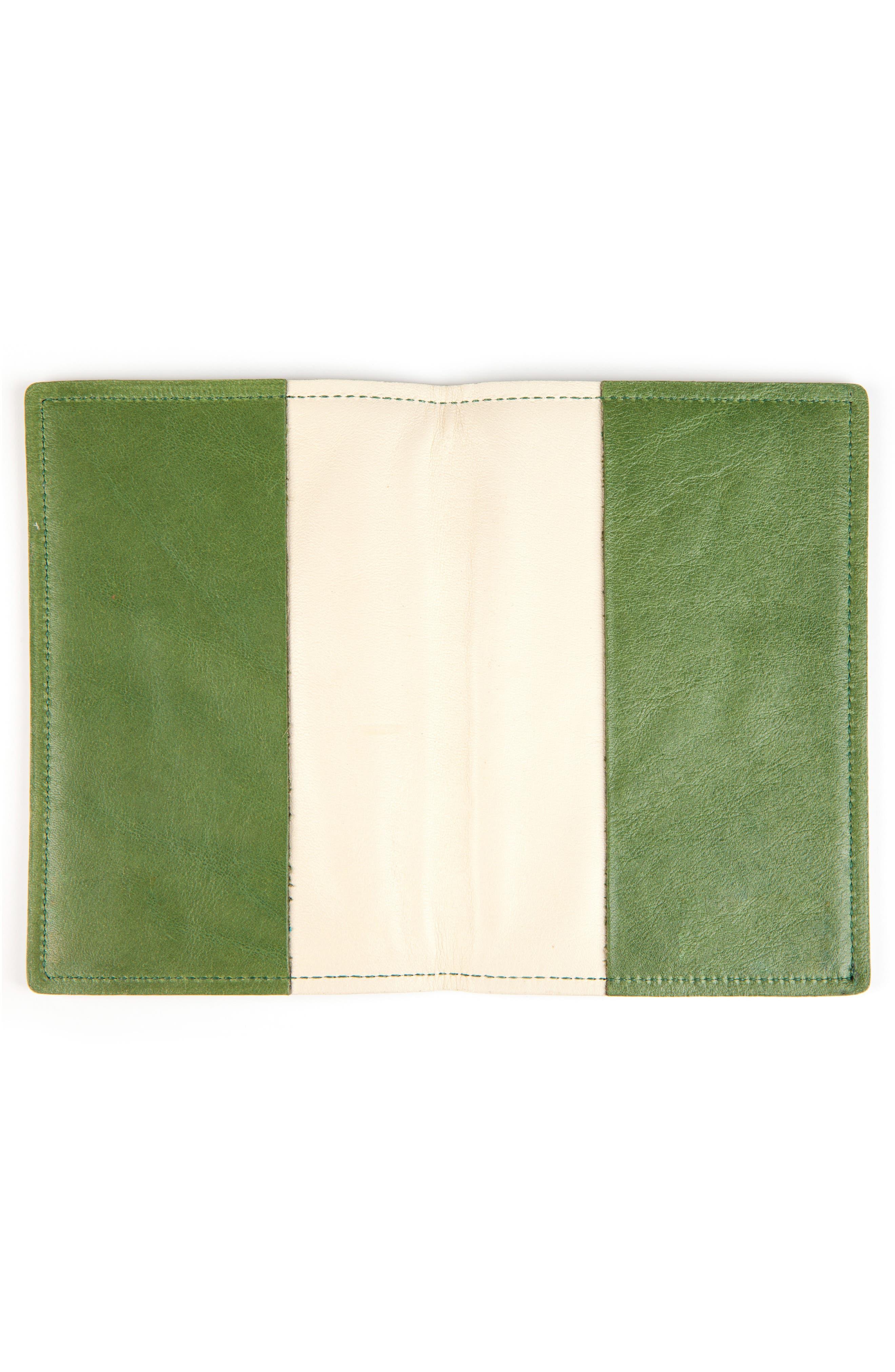 Leather Passport Case,                             Alternate thumbnail 2, color,                             SOUR APPLE
