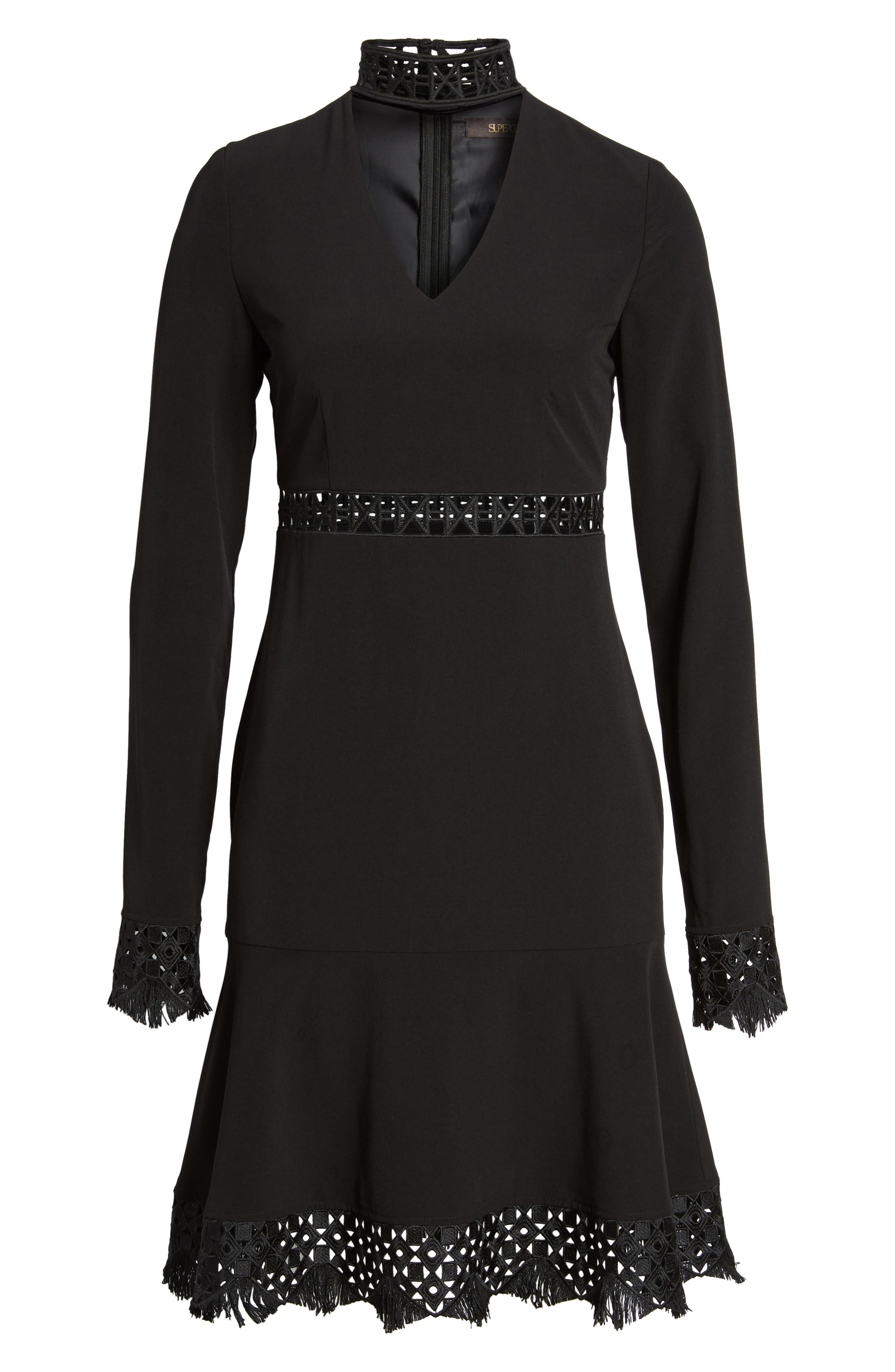 Dacy Choker Dress,                             Alternate thumbnail 6, color,                             001