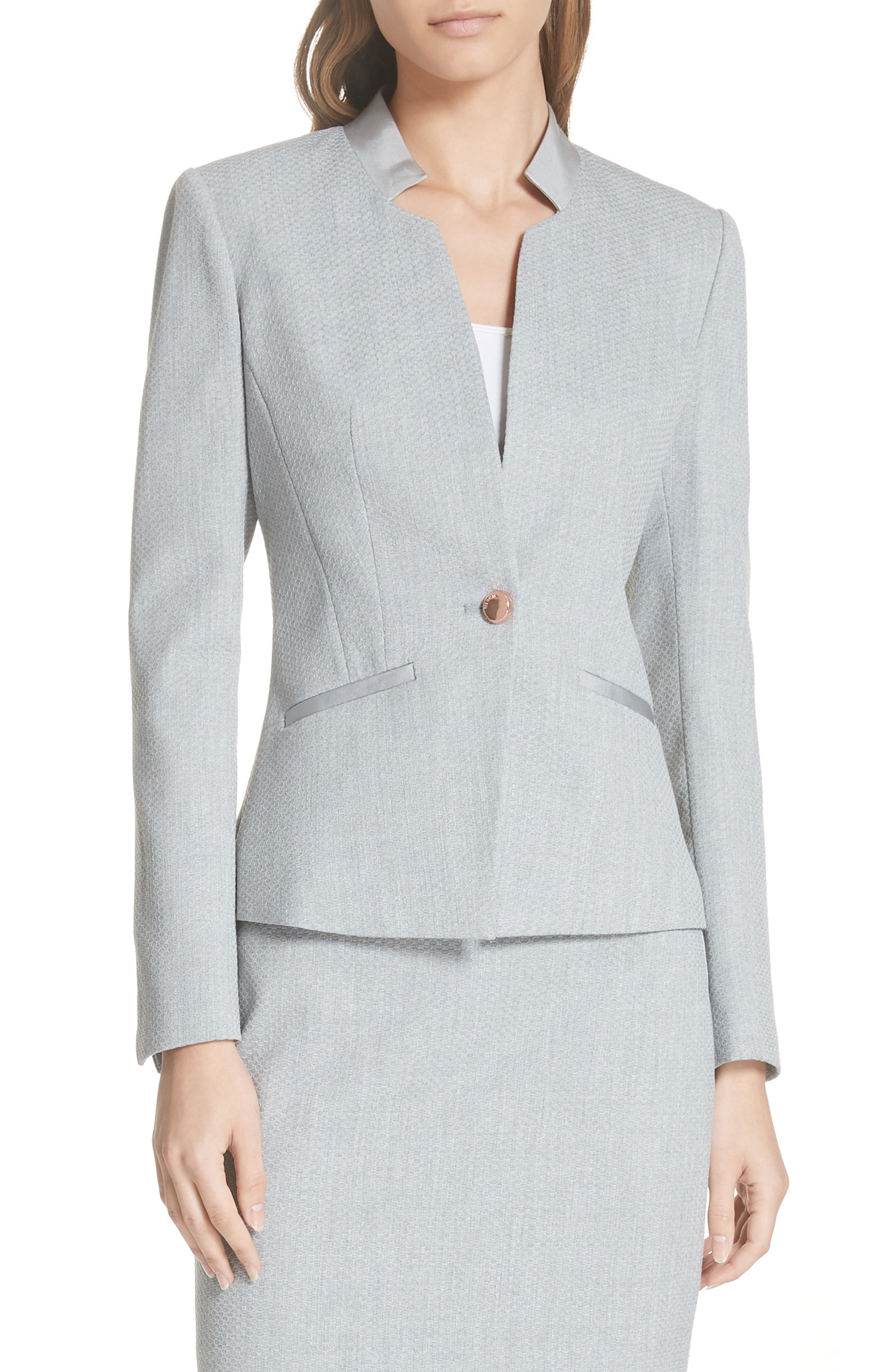 Ted Working Title Daizi Suit Jacket,                             Main thumbnail 1, color,                             GREY