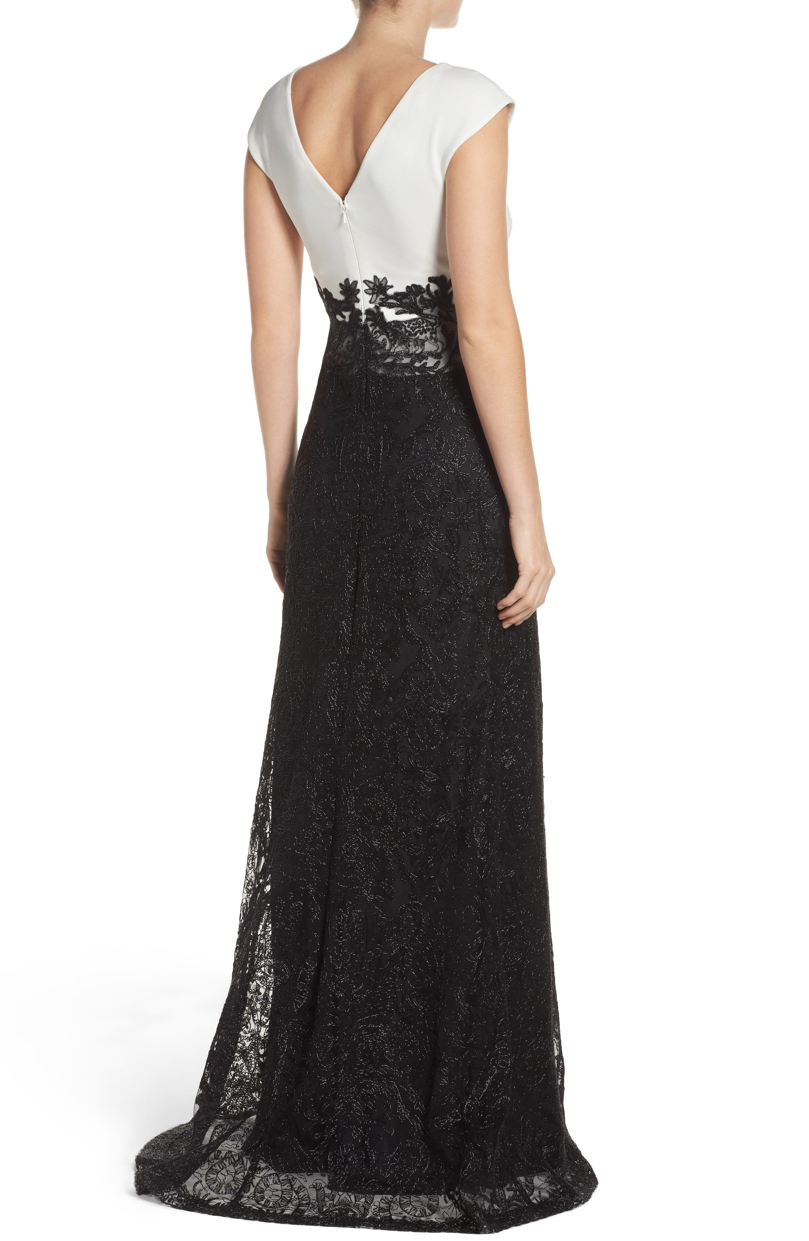 Two-Tone Gown,                             Alternate thumbnail 2, color,                             001