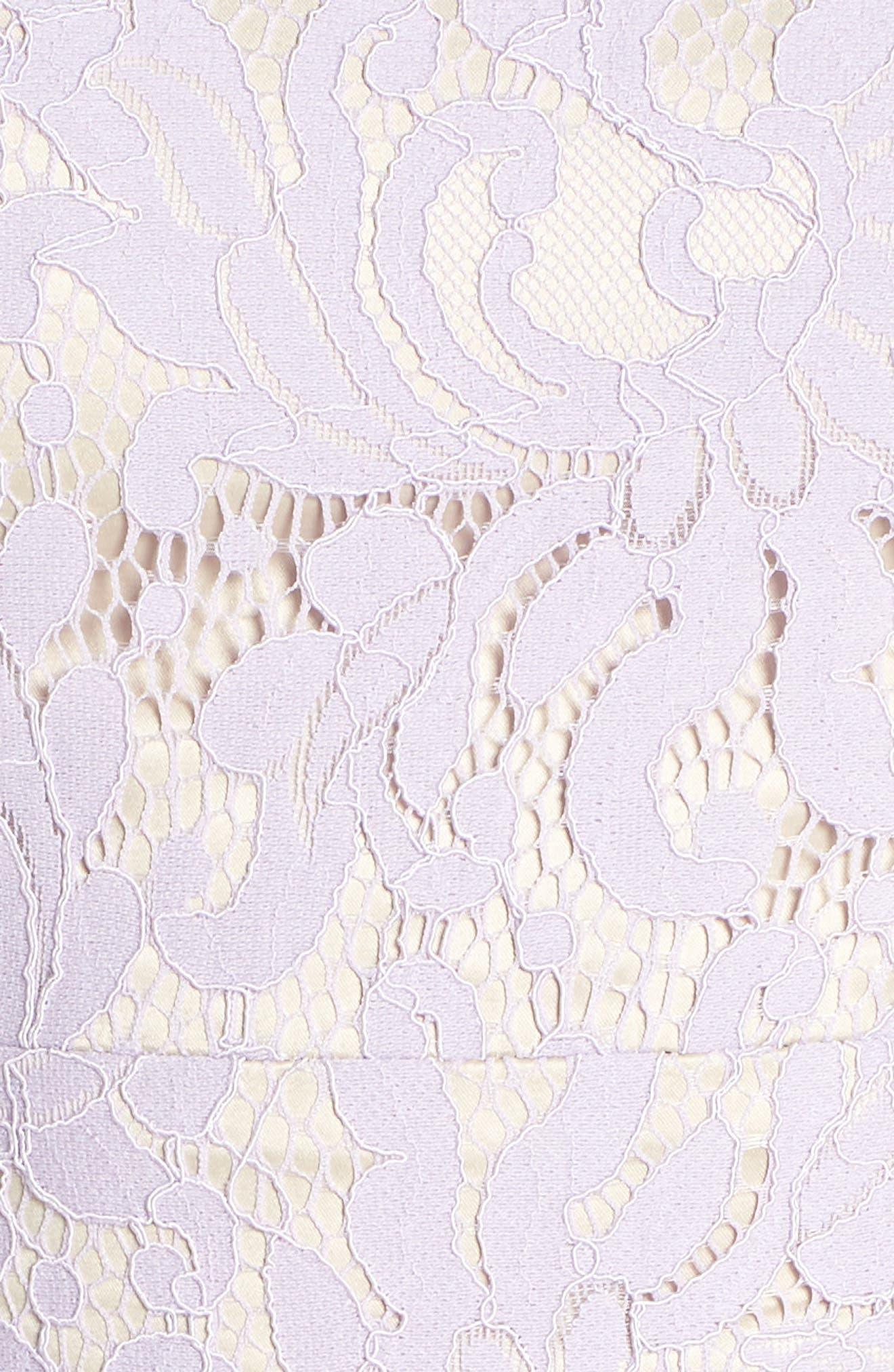 ELIZA J,                             Lace Fit & Flare Dress,                             Alternate thumbnail 6, color,                             LAVENDER