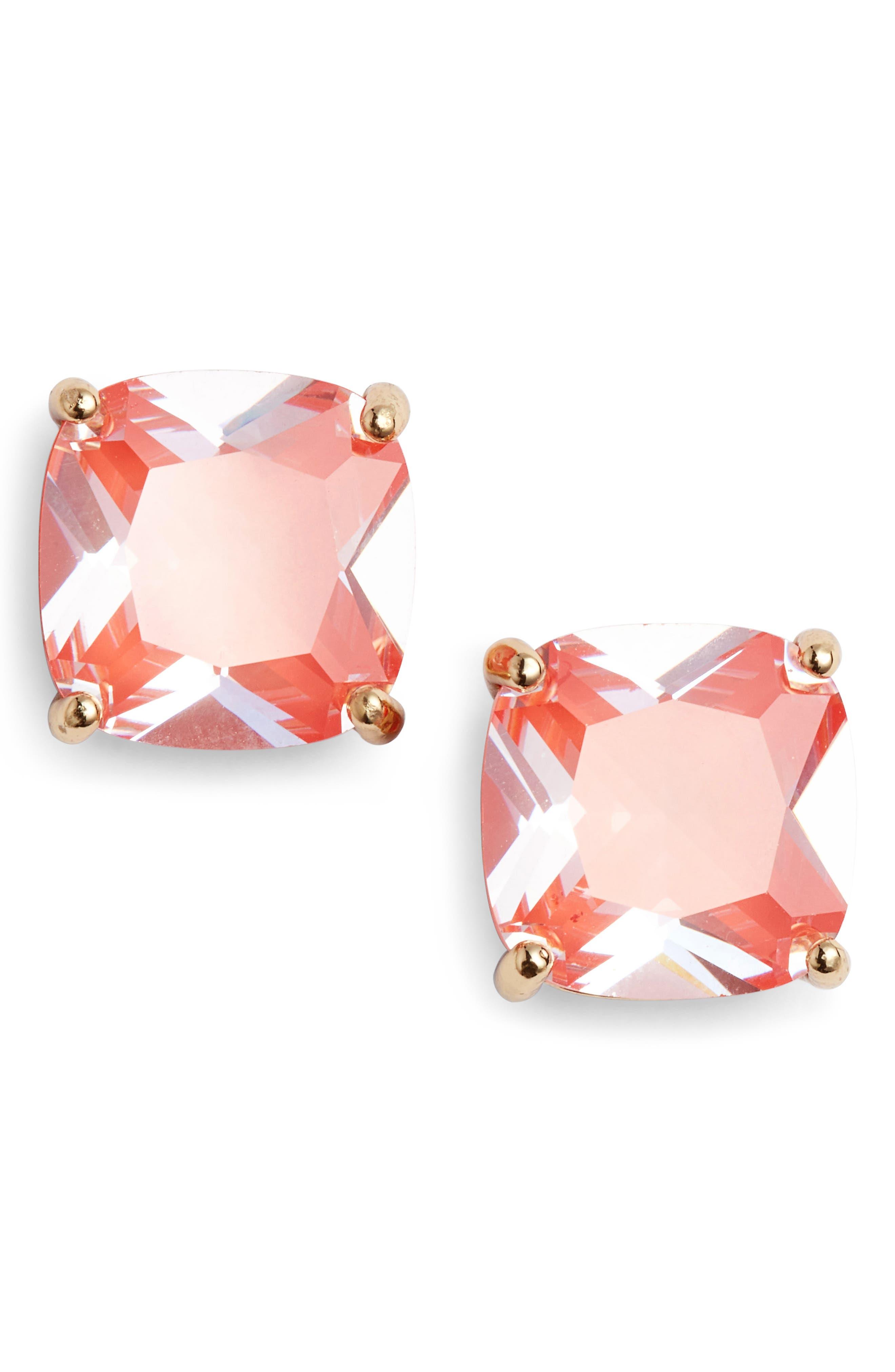 small square enamel stud earrings,                             Main thumbnail 4, color,