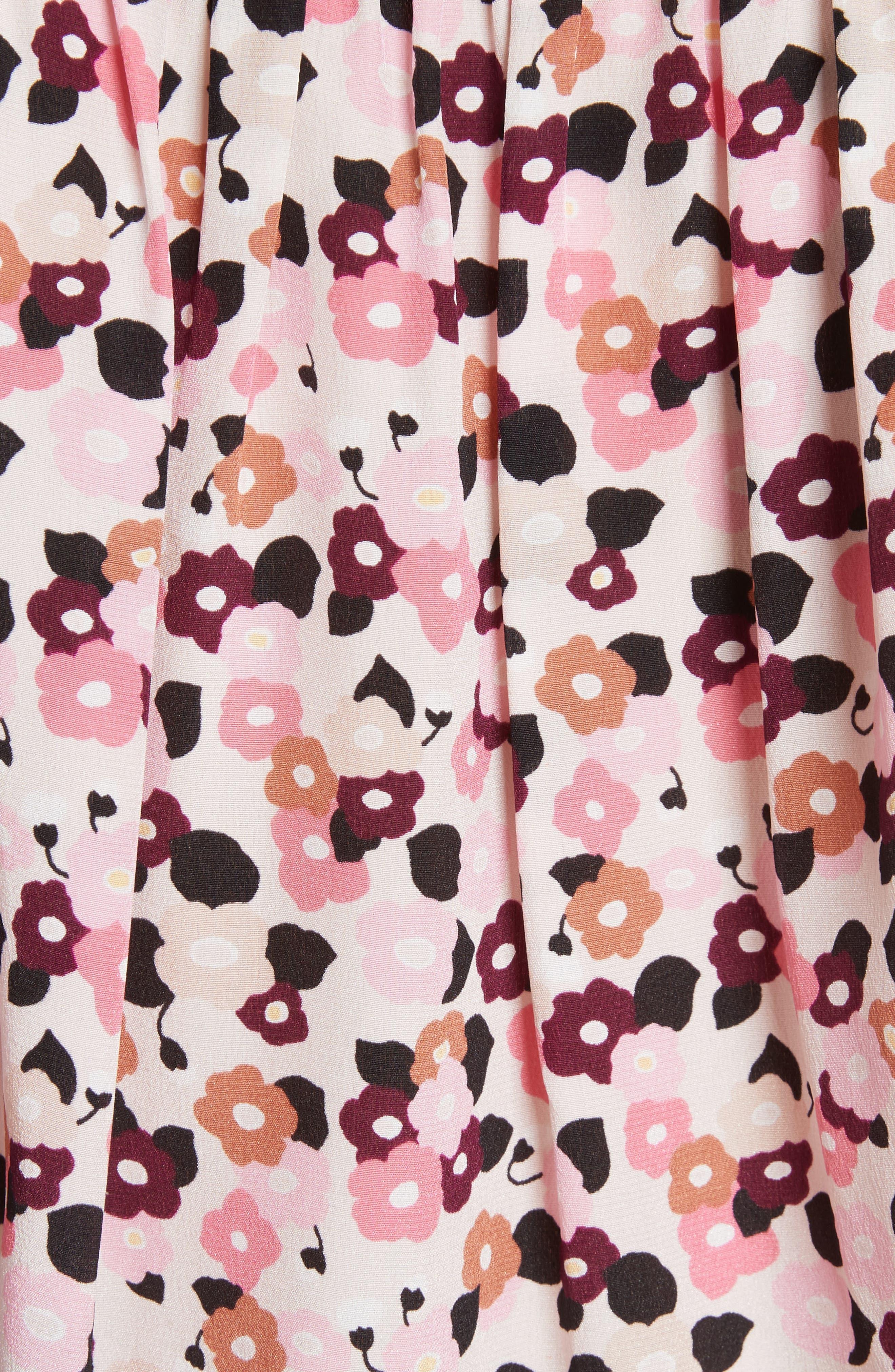 bloom print silk blouse,                             Alternate thumbnail 5, color,                             672