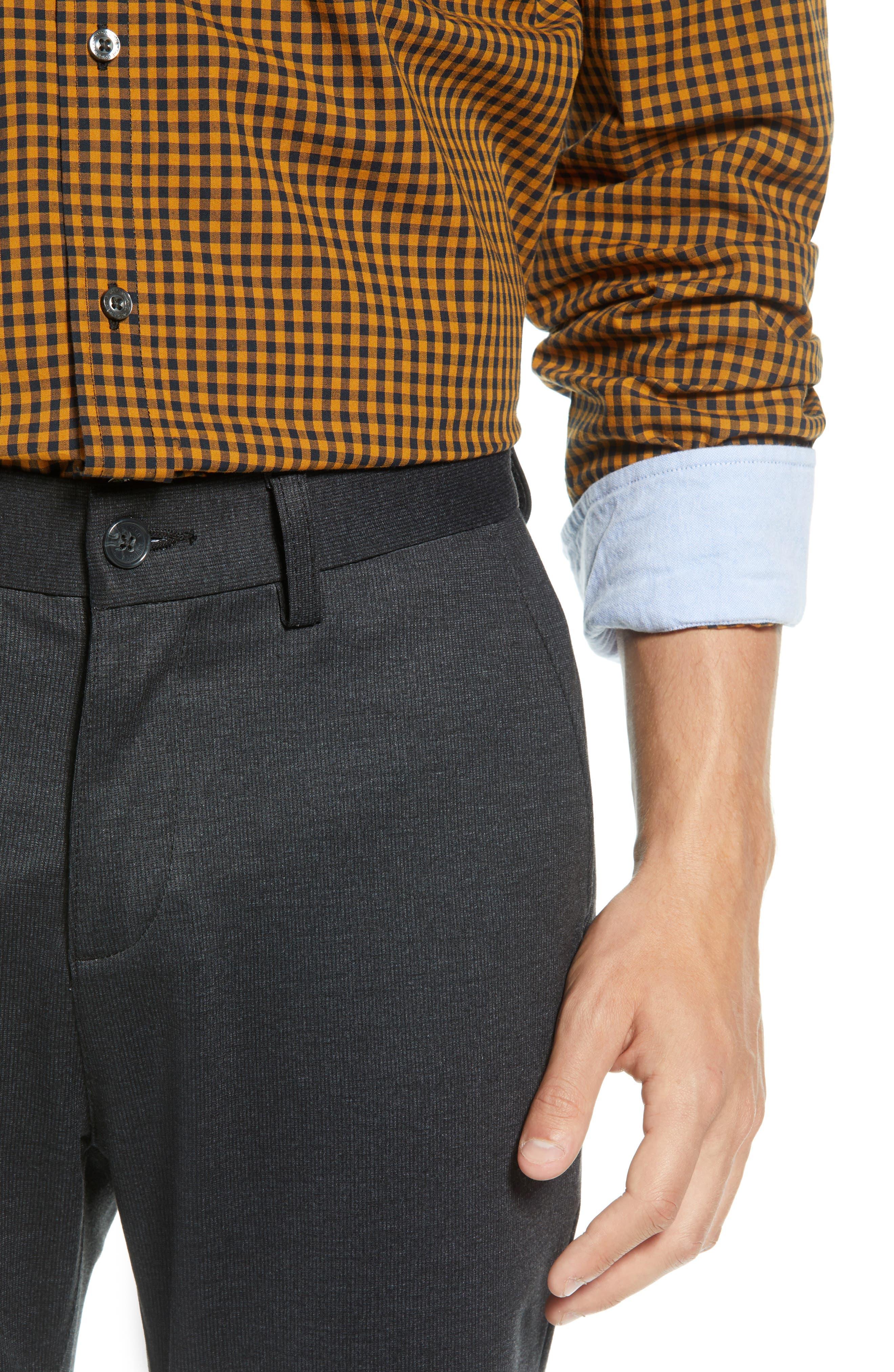 Slim Fit Ponte Knit Trousers,                             Alternate thumbnail 4, color,                             020