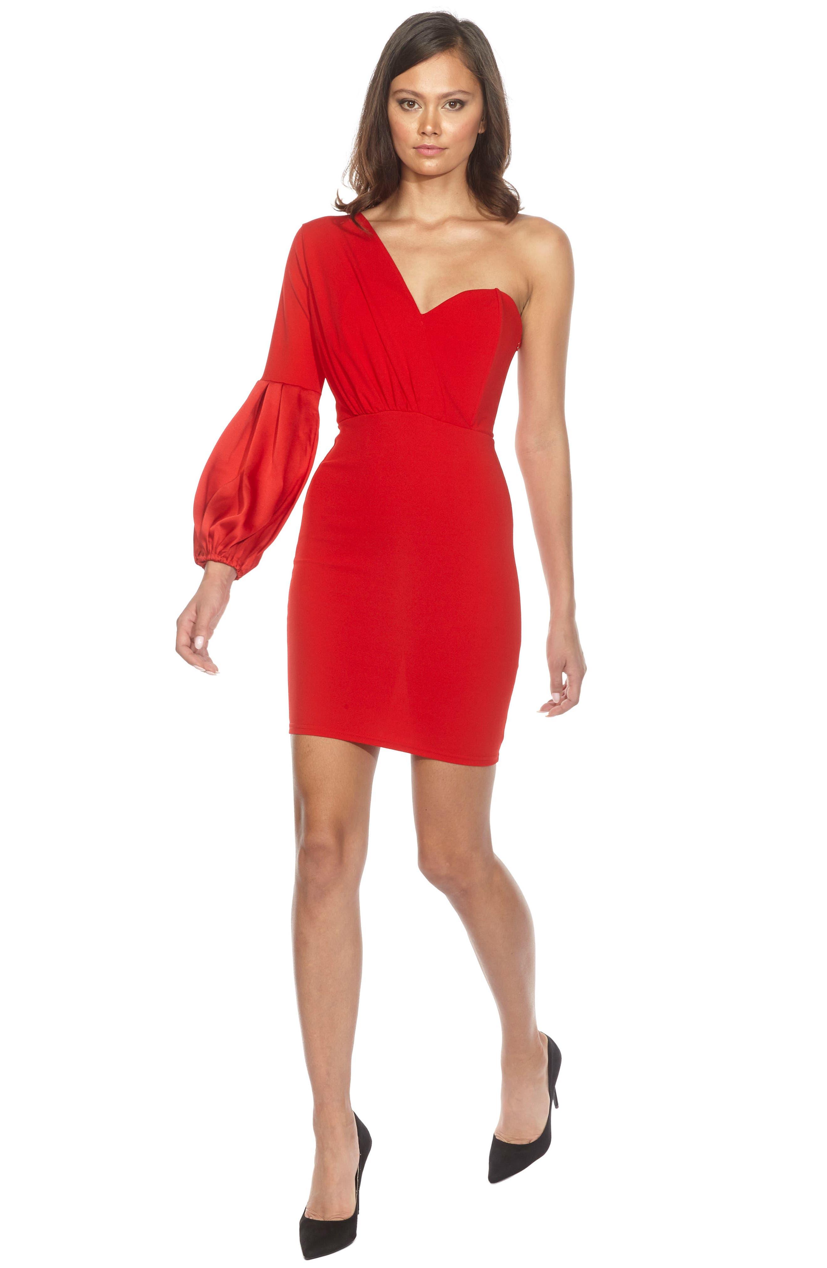 Naeva One-Shoulder Minidress,                             Alternate thumbnail 3, color,