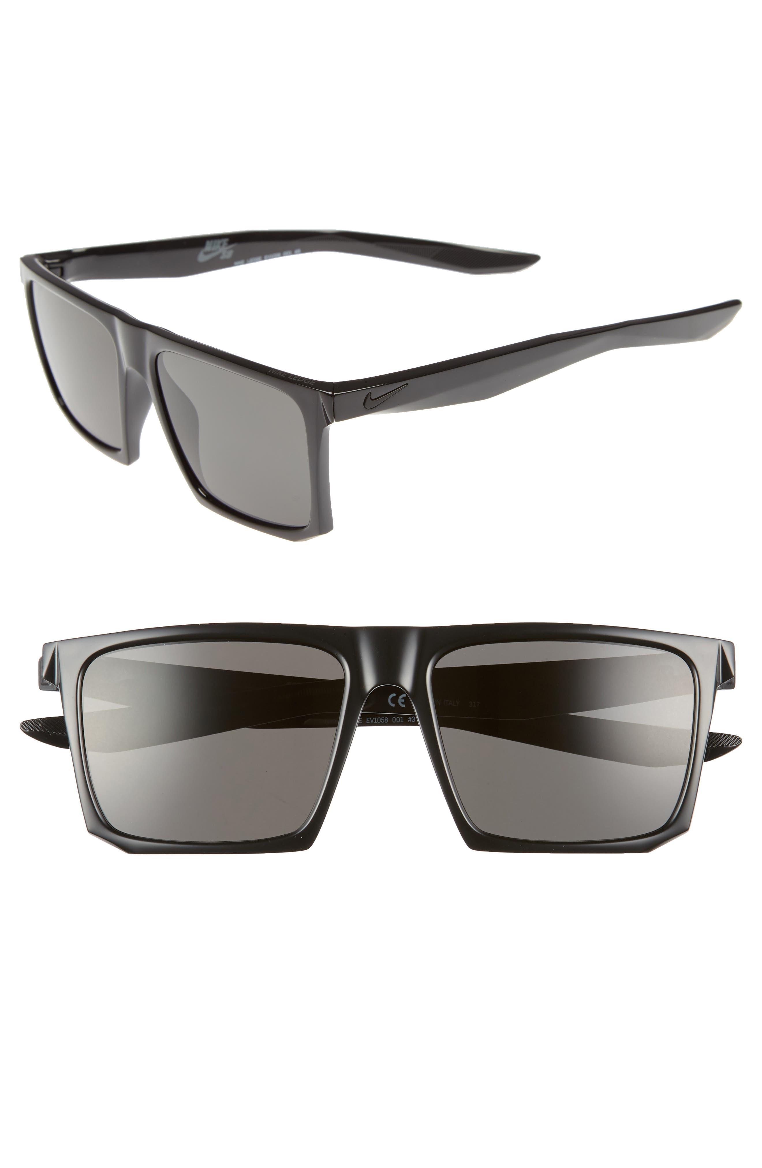 Ledge 56mm Sunglasses,                         Main,                         color, BLACK/ DARK GREY