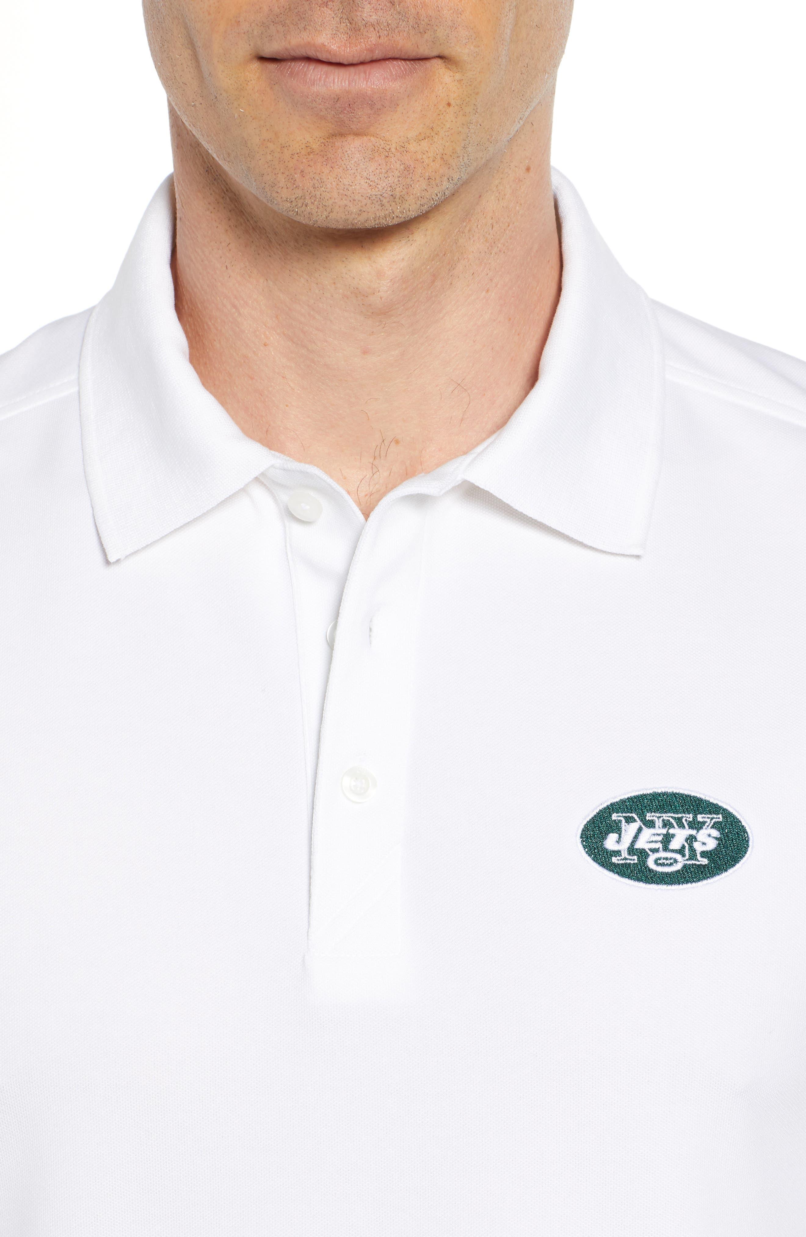 CUTTER & BUCK,                             New York Jets - Advantage Regular Fit DryTec Polo,                             Alternate thumbnail 4, color,                             100