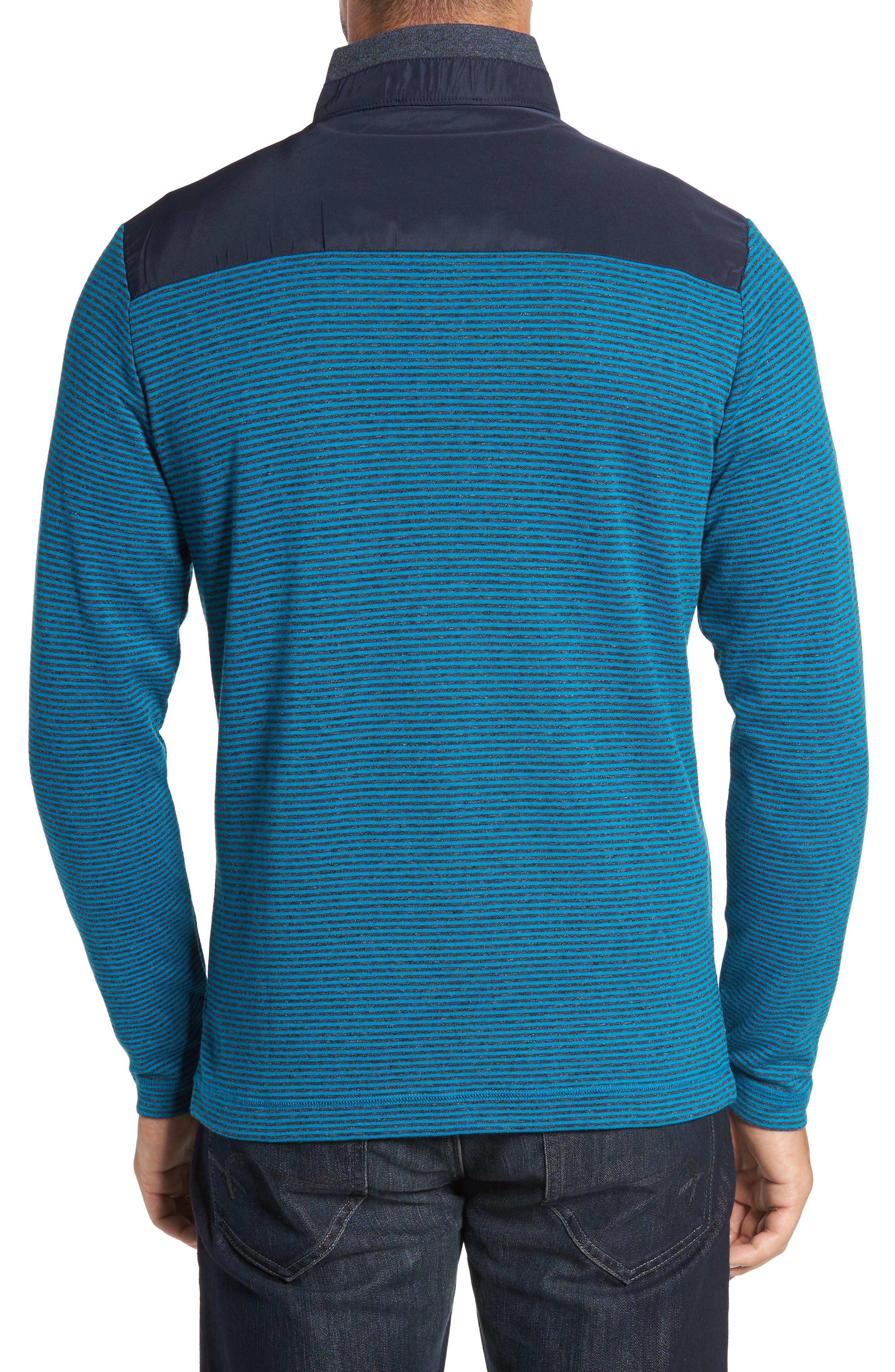 Classic Fit Striped Quarter Zip Pullover,                             Alternate thumbnail 2, color,                             445
