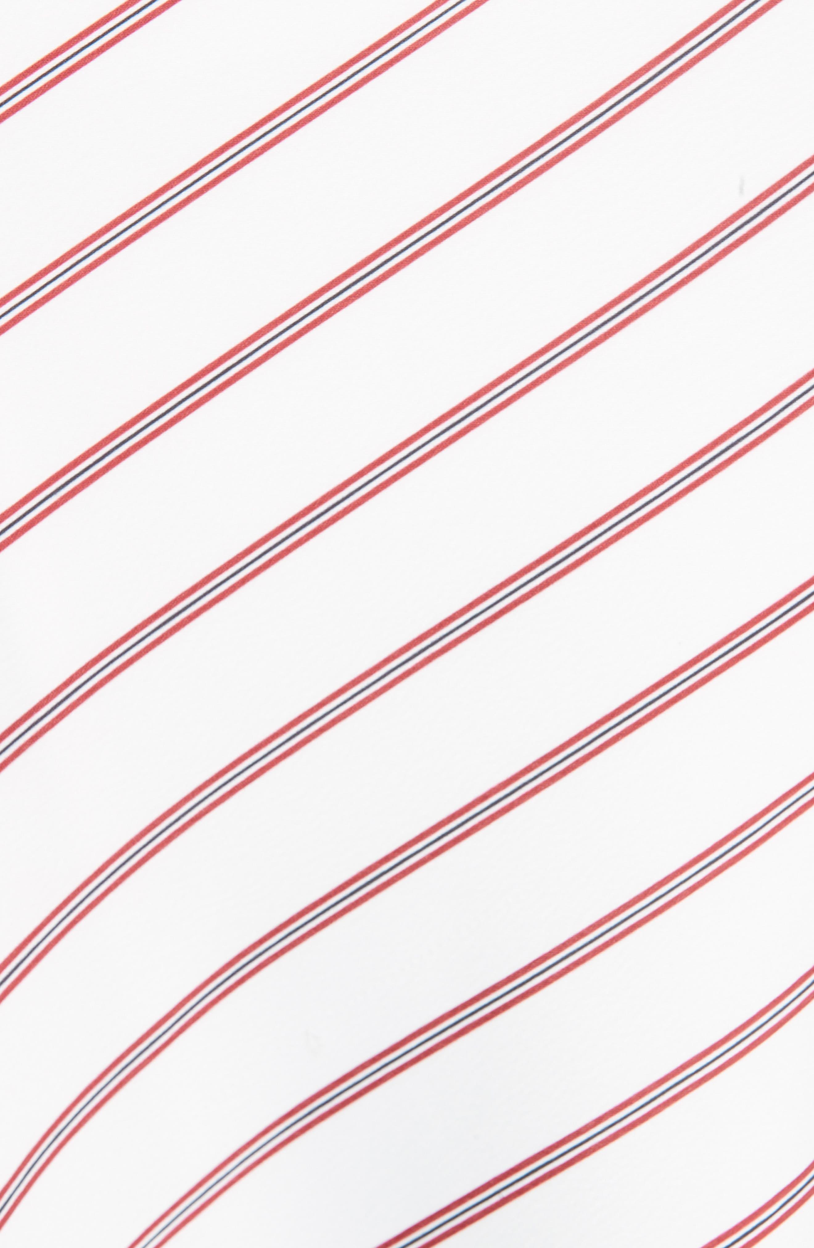 NICHOLAS,                             Stripe Panel Skirt,                             Alternate thumbnail 5, color,                             WHITE/ RED