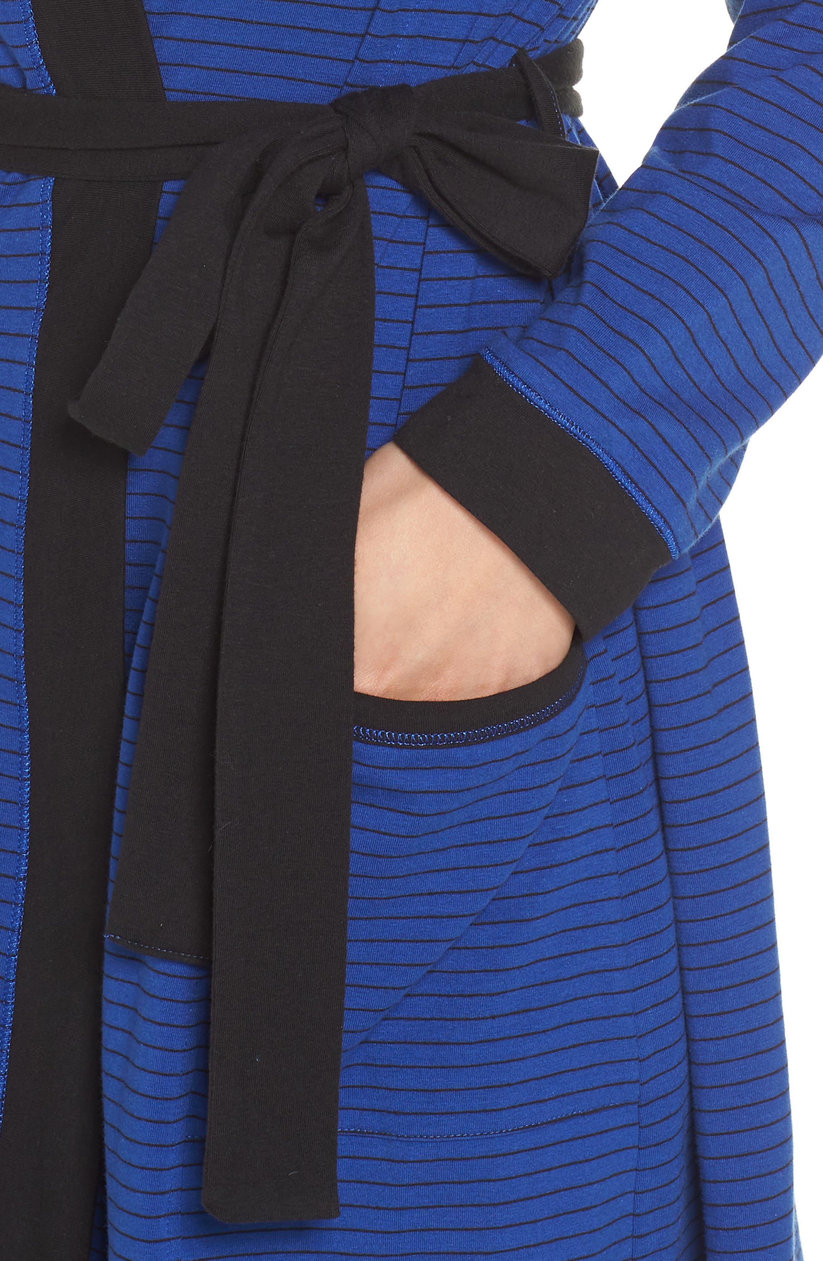 Power Stripe Robe,                             Alternate thumbnail 4, color,                             408