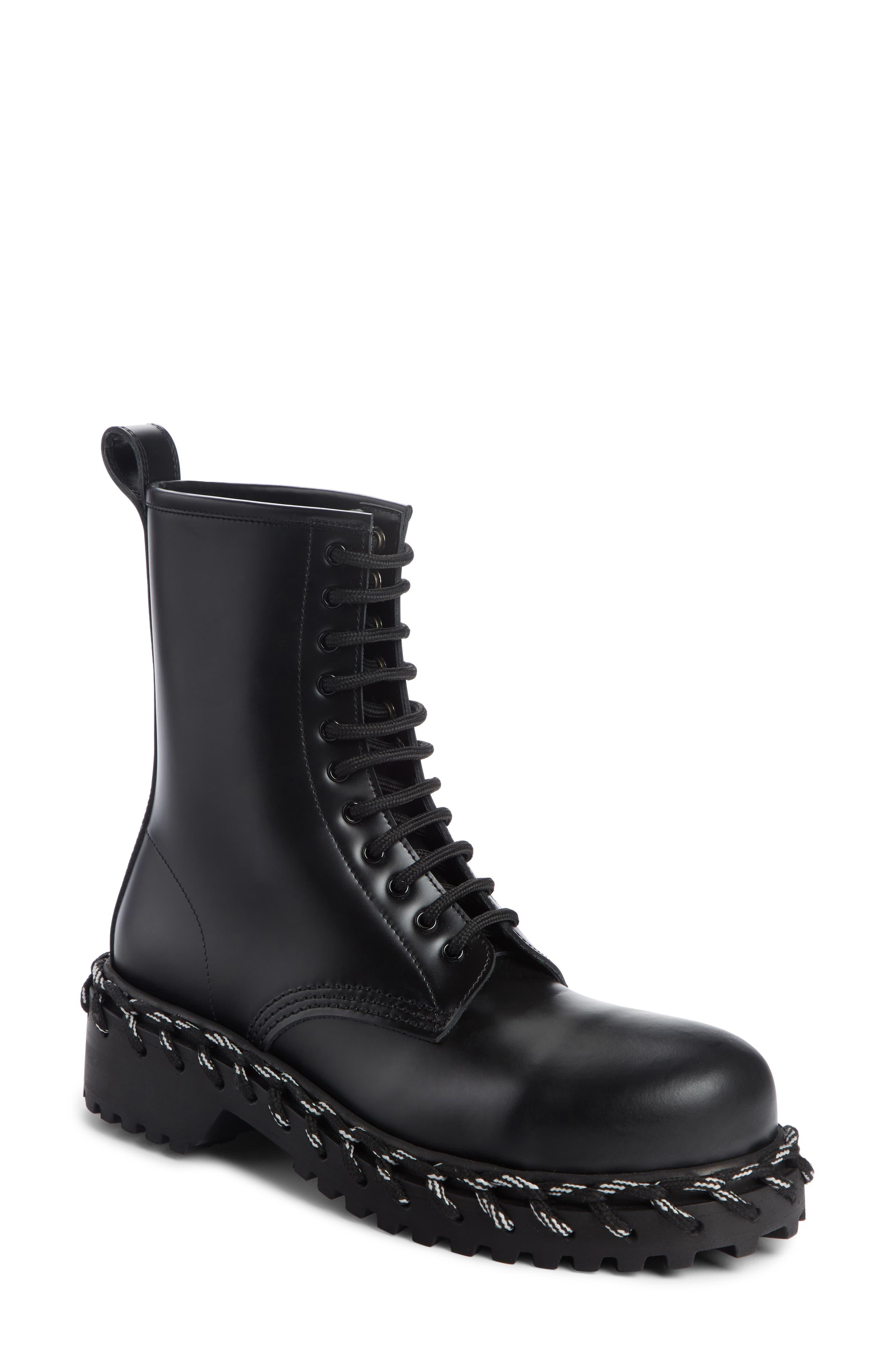 Balenciaga Rope Combat Boot - Black