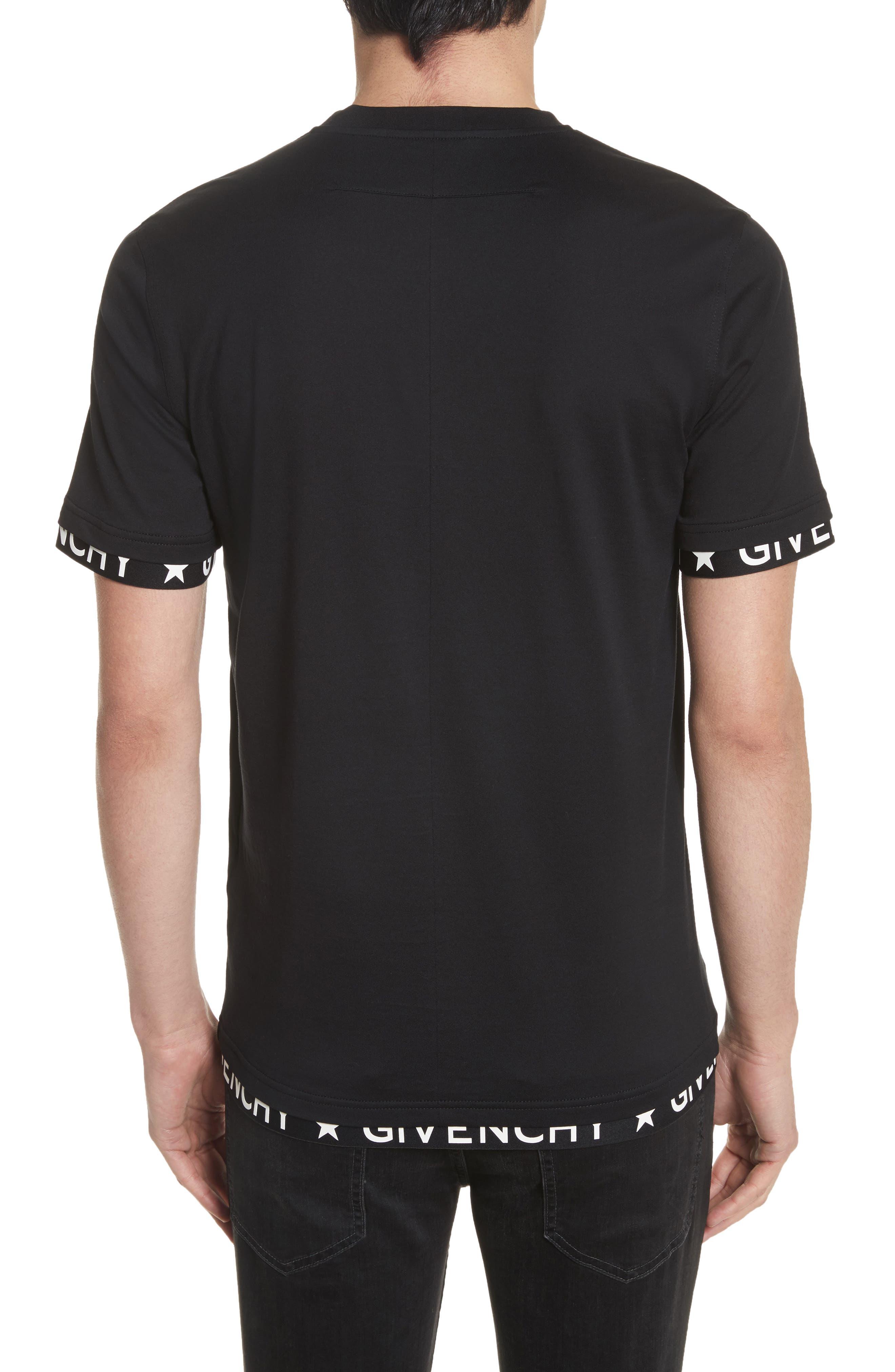 Half Band Crewneck T-Shirt,                             Alternate thumbnail 2, color,                             001