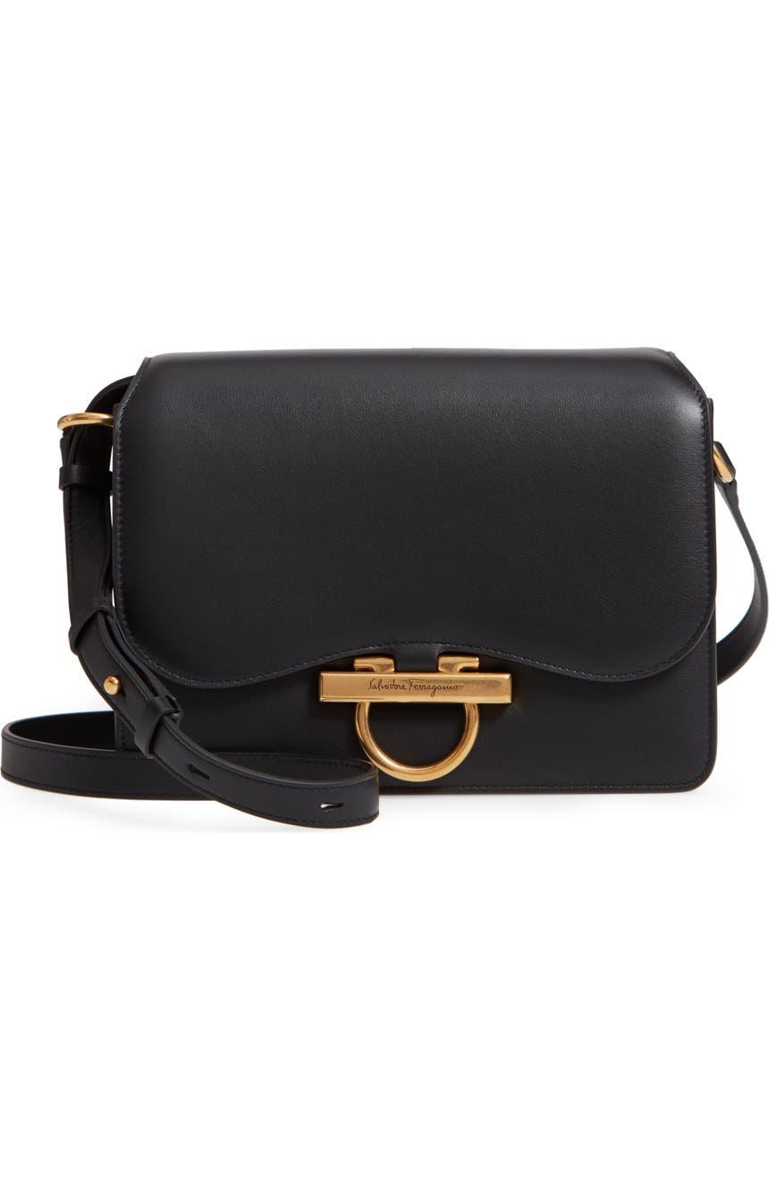 Salvatore Ferragamo Medium Classic Flap Leather Shoulder Bag  b29456d2a0208