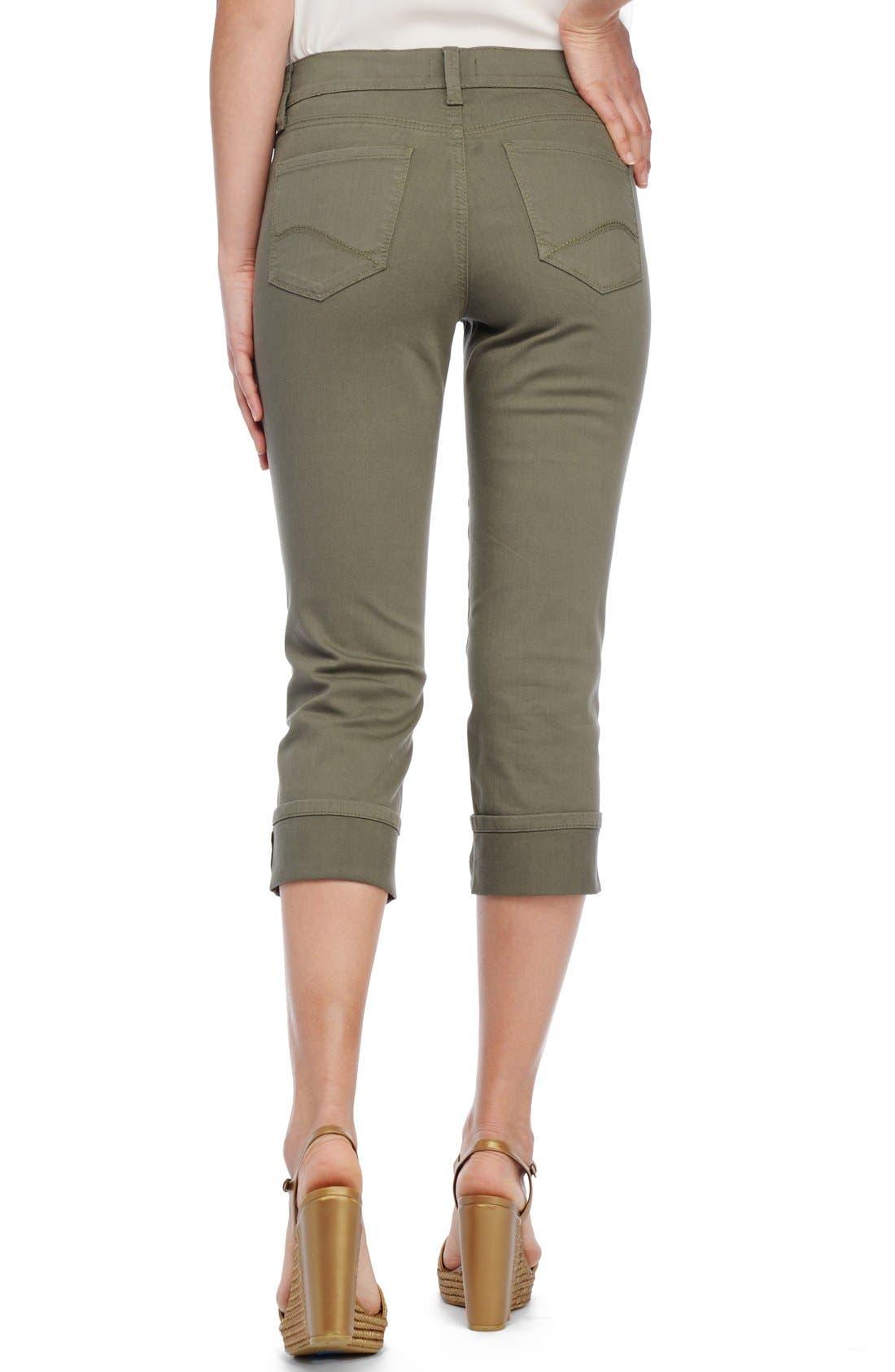 'Dayla' Colored Wide Cuff Capri Jeans,                             Alternate thumbnail 20, color,