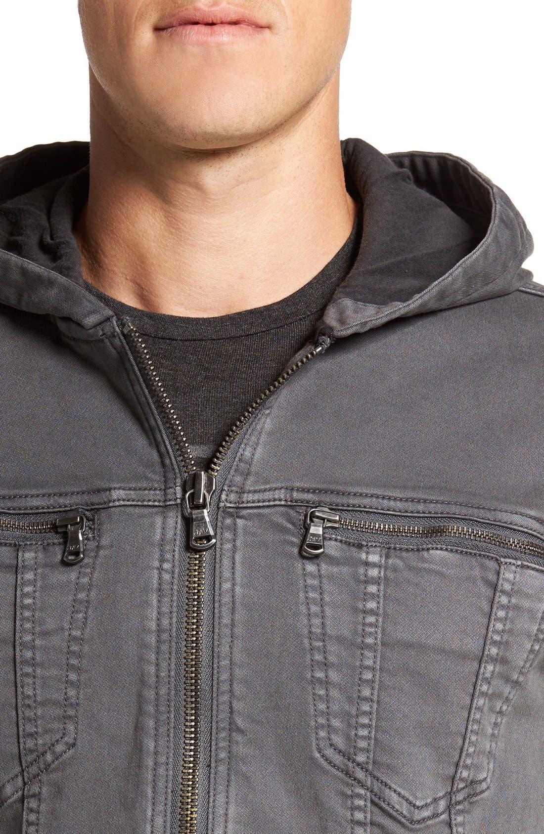 Hooded Denim Jacket,                             Alternate thumbnail 12, color,