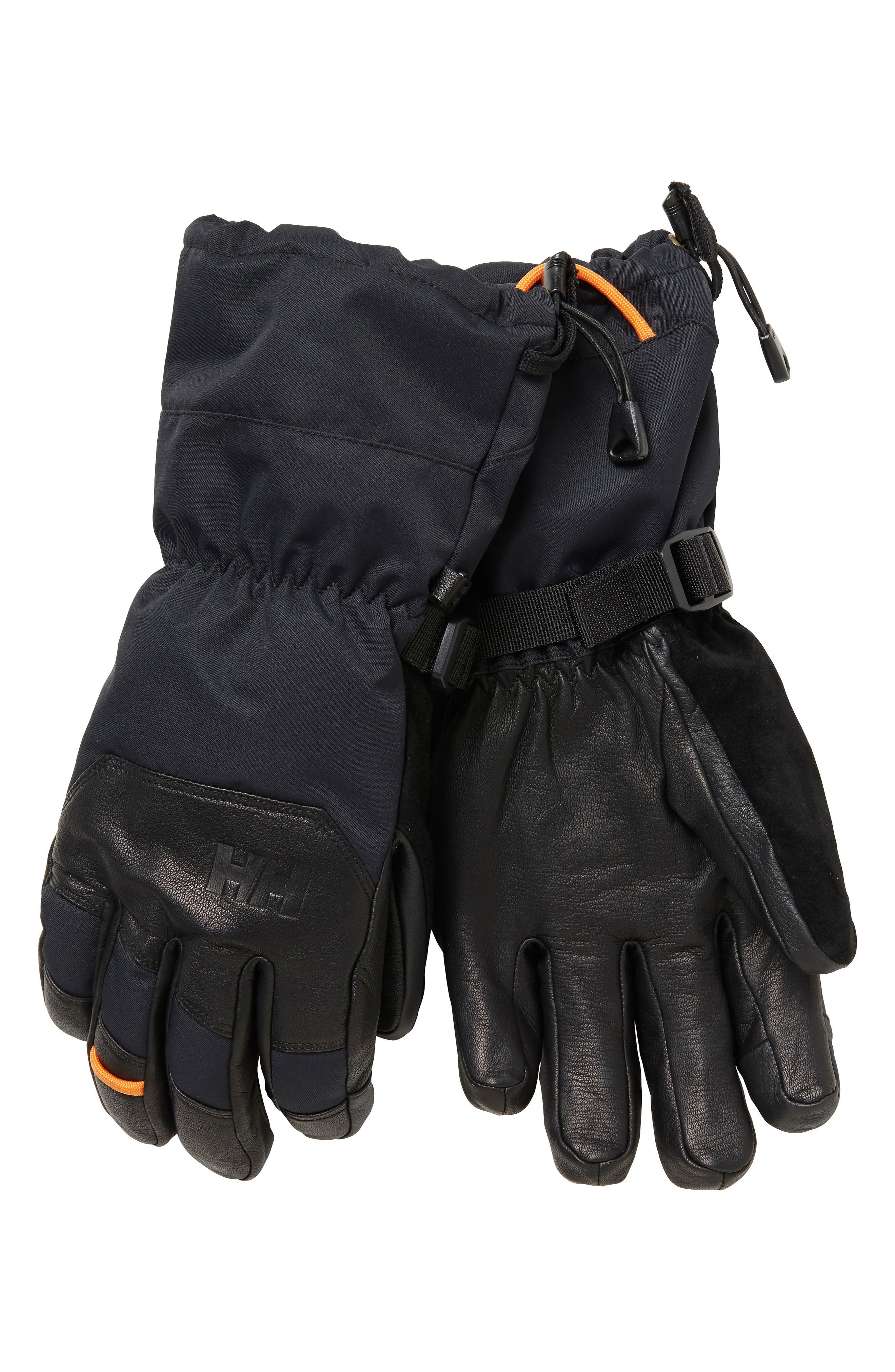 Ullr Sogn Helly Tech<sup>®</sup> Ski Gloves,                             Main thumbnail 1, color,                             BLACK
