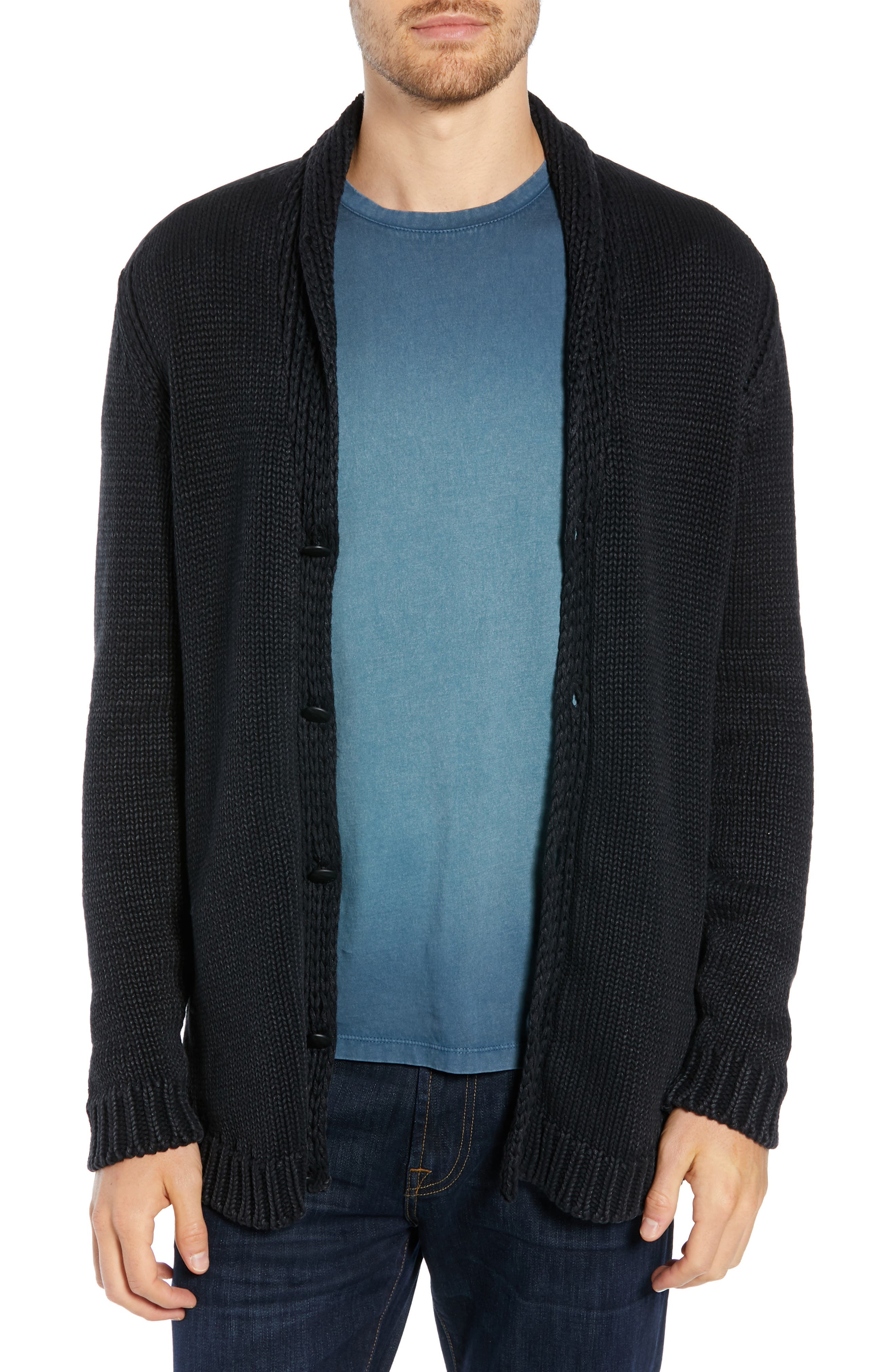 John Varvatos Star Usa Shawl Collar Cardigan