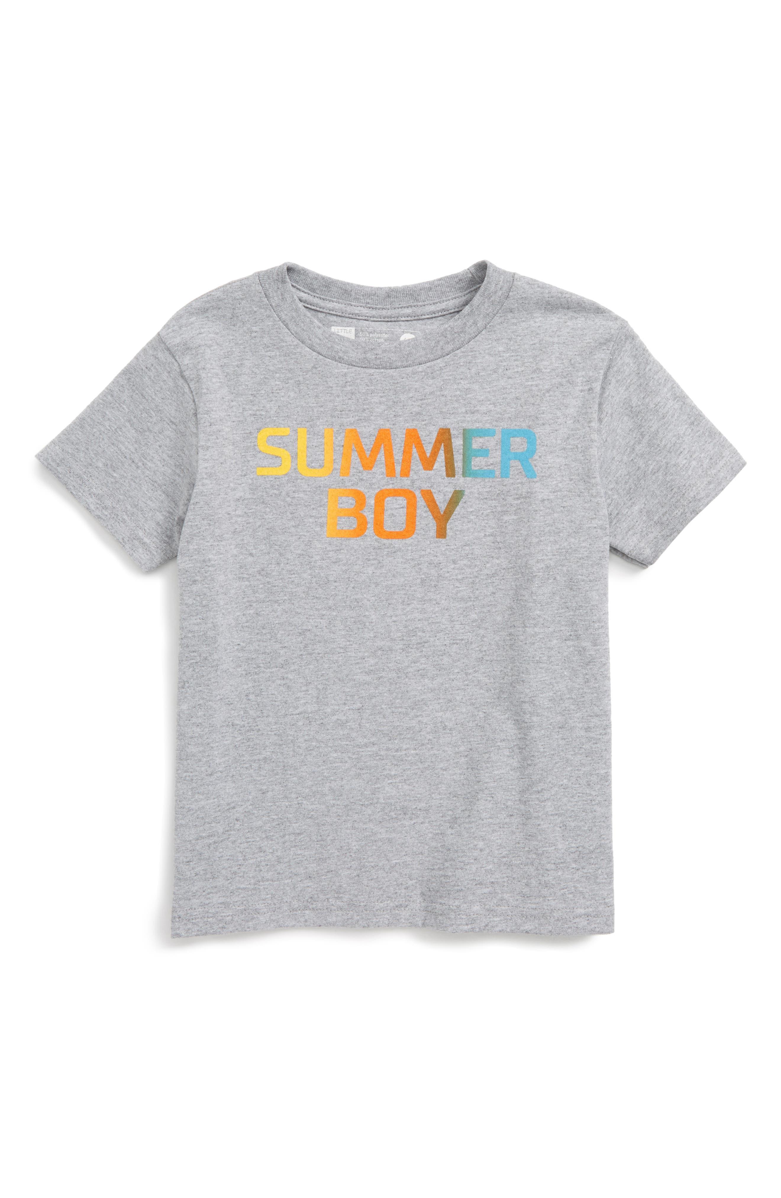 Summer Boy Graphic T-Shirt,                             Main thumbnail 1, color,                             020