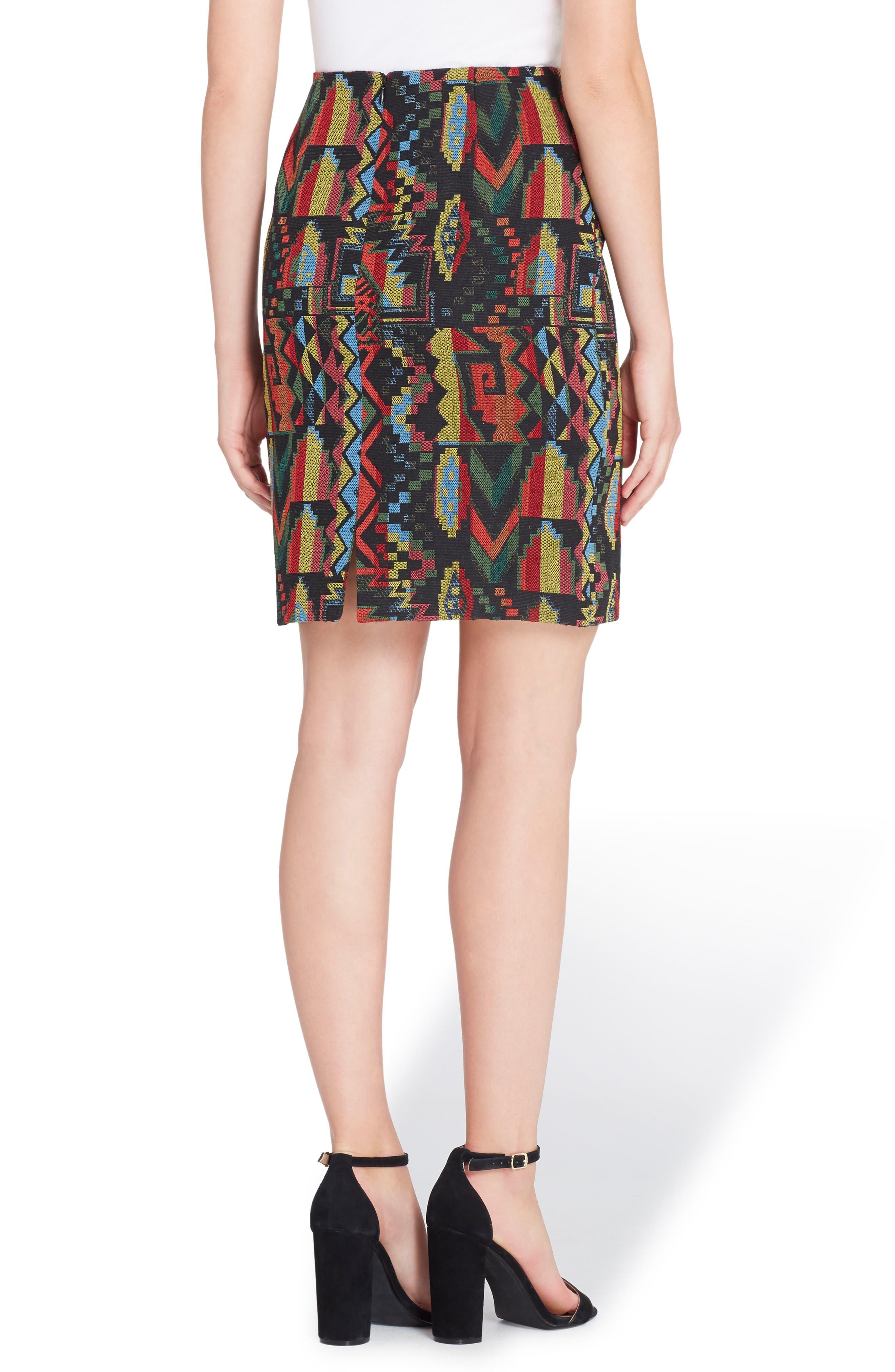 Emmett Geo Woven Skirt,                             Alternate thumbnail 2, color,                             002