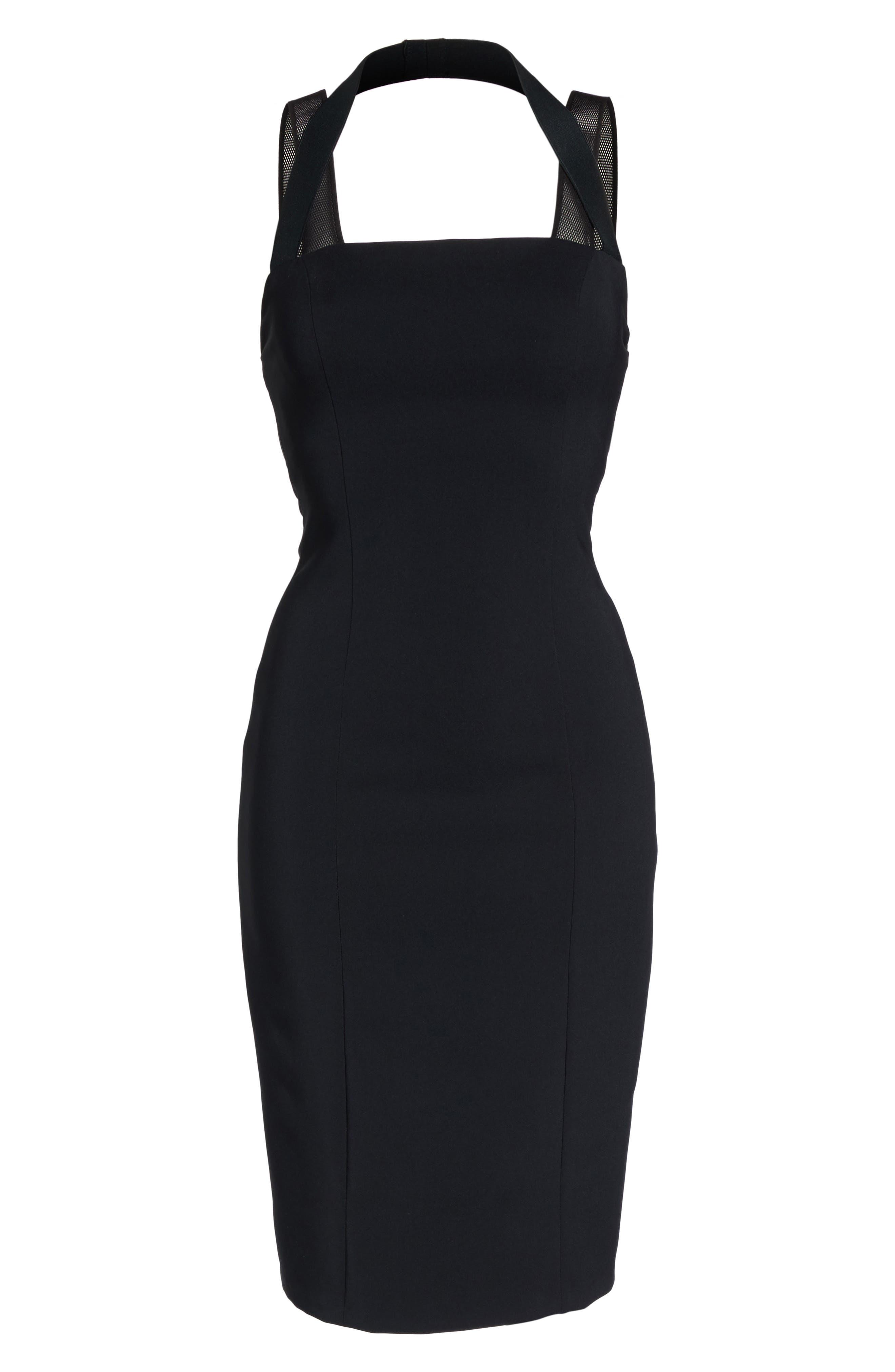 Kendra Elastic Strap Low Back Sheath Dress,                             Alternate thumbnail 6, color,