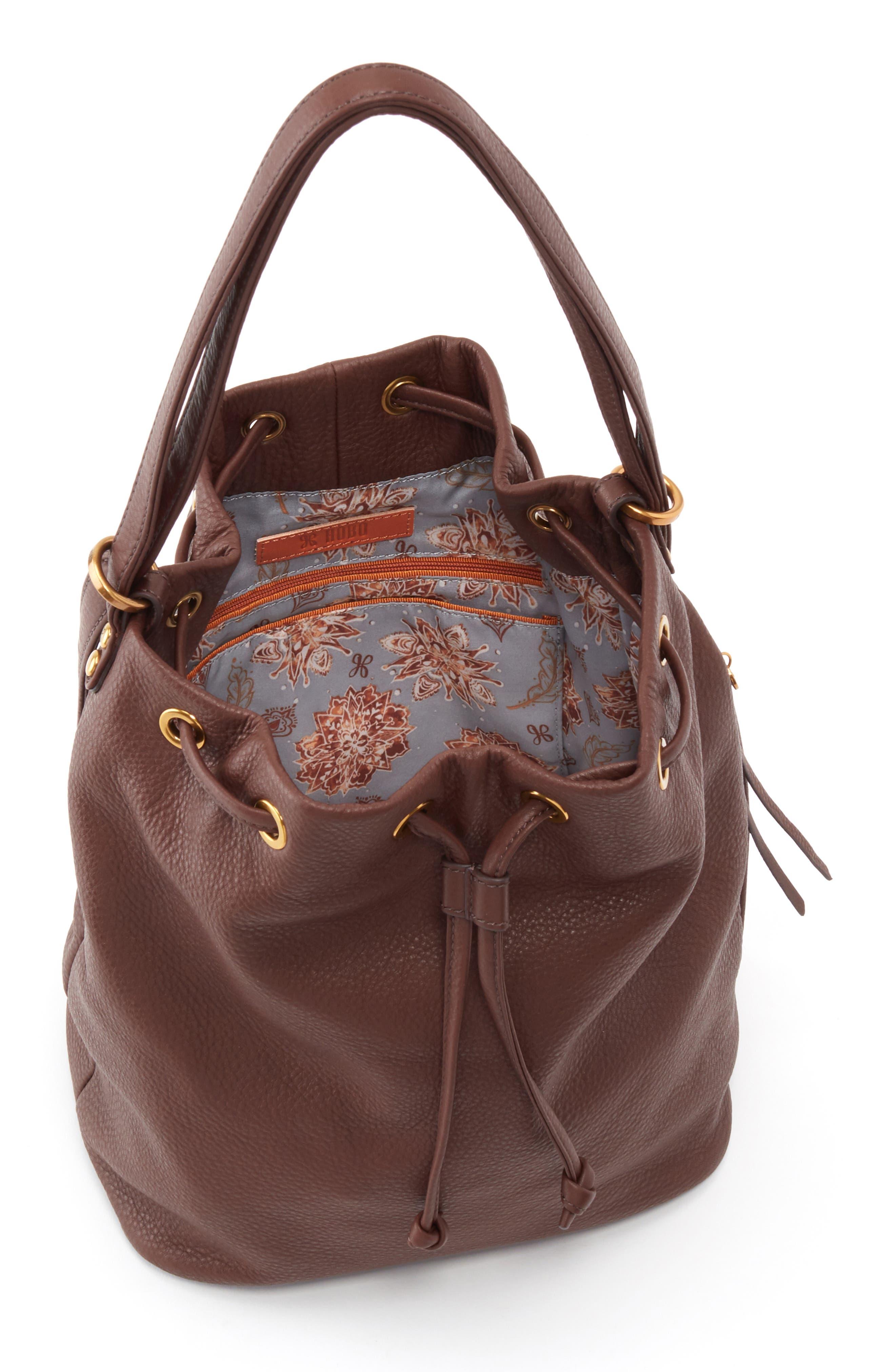 Brandish Convertible Bucket Bag,                             Alternate thumbnail 3, color,                             WALNUT