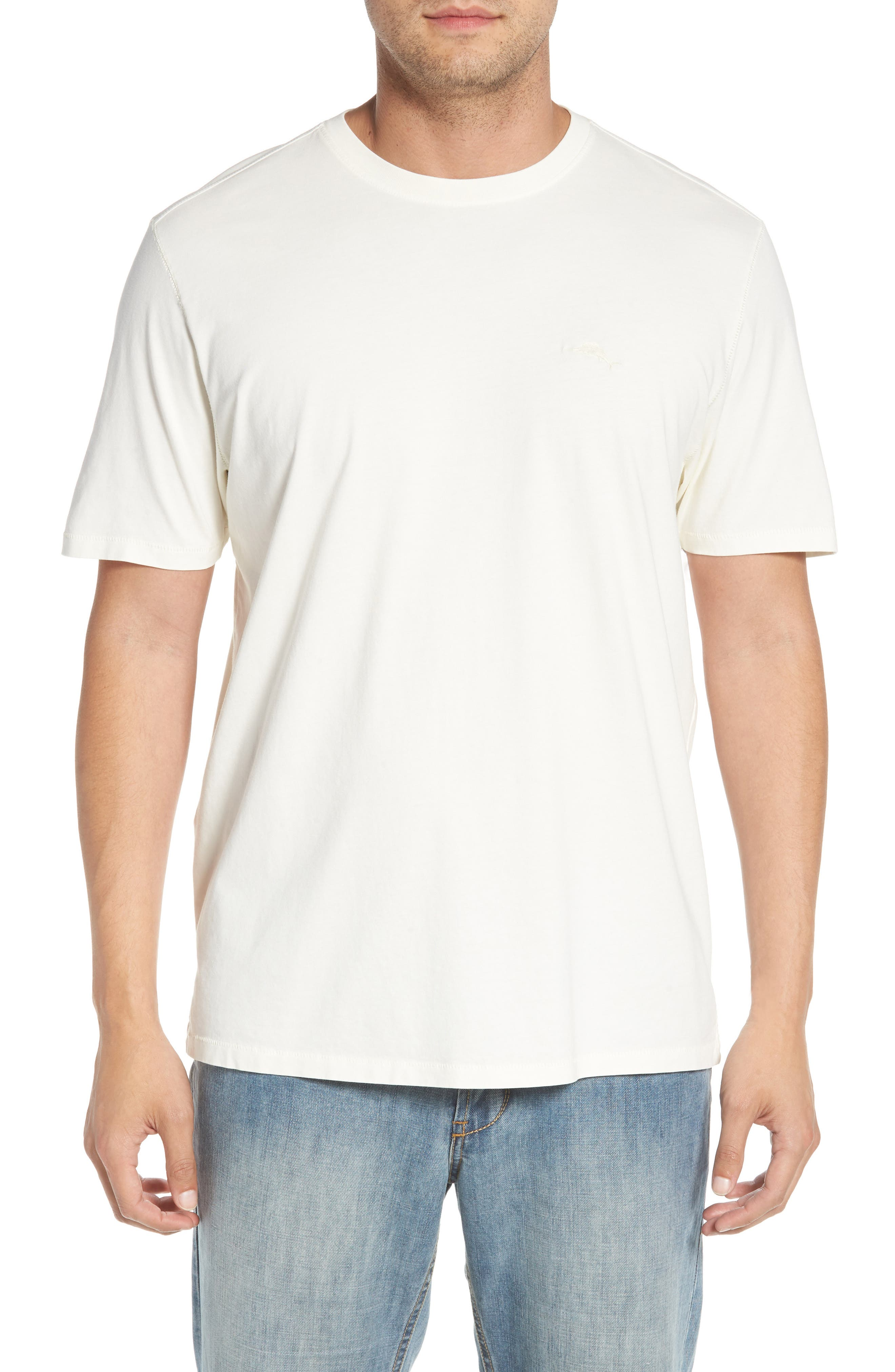 Beach Crewneck T-Shirt,                         Main,                         color, 100
