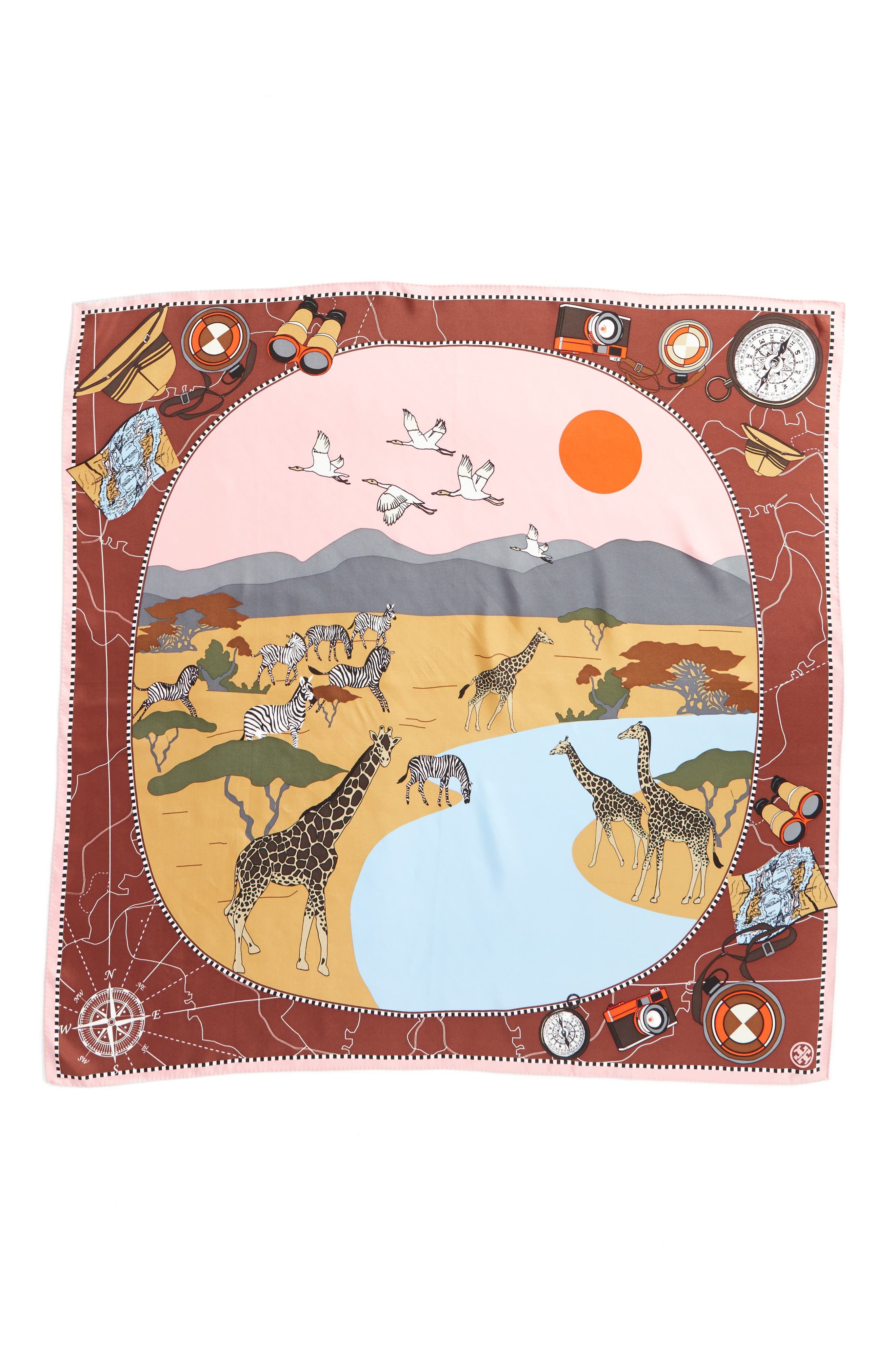 Safari Silk Scarf,                             Alternate thumbnail 3, color,                             650