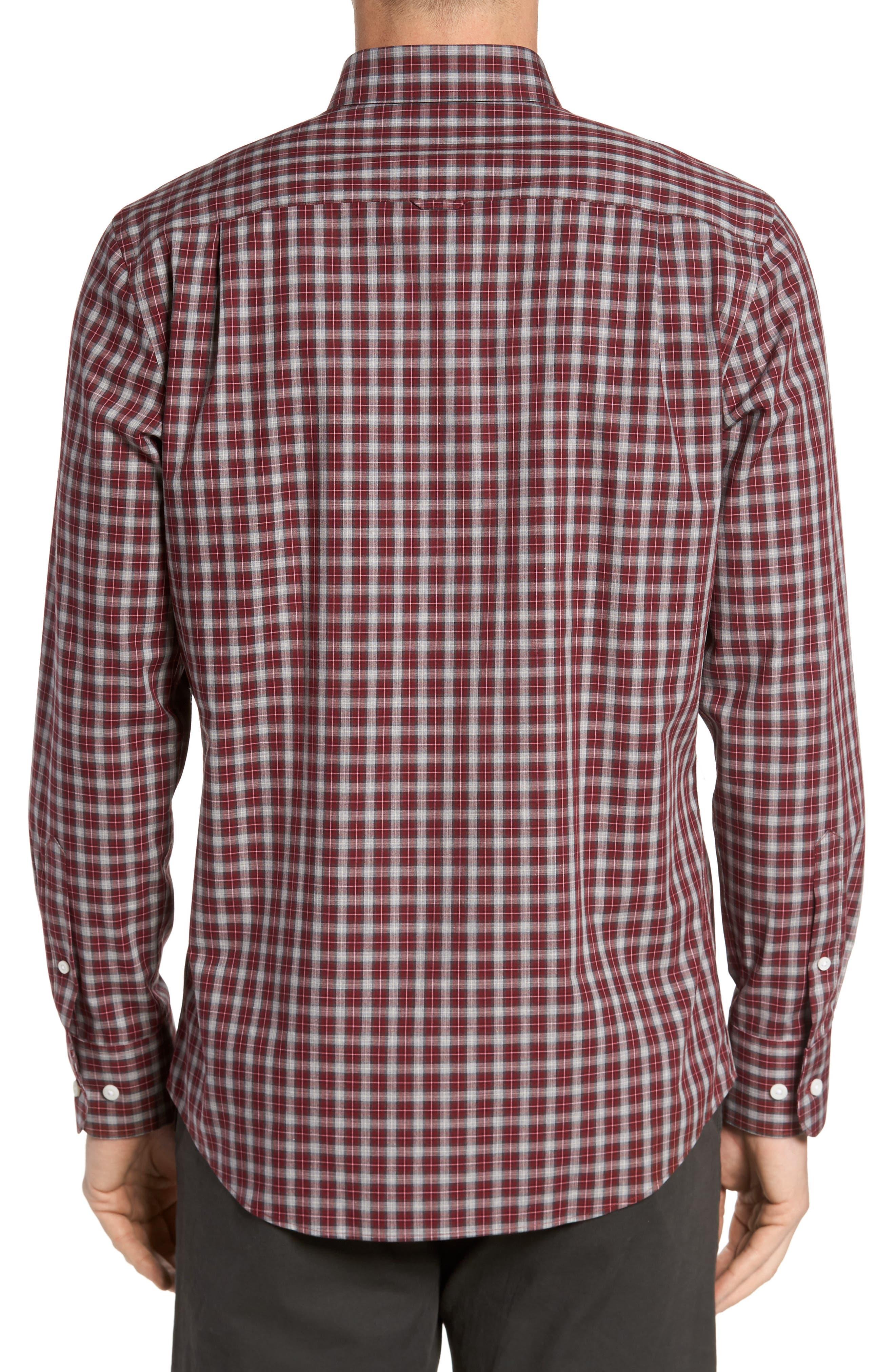Regular Fit Non-Iron Check Sport Shirt,                             Alternate thumbnail 2, color,                             610
