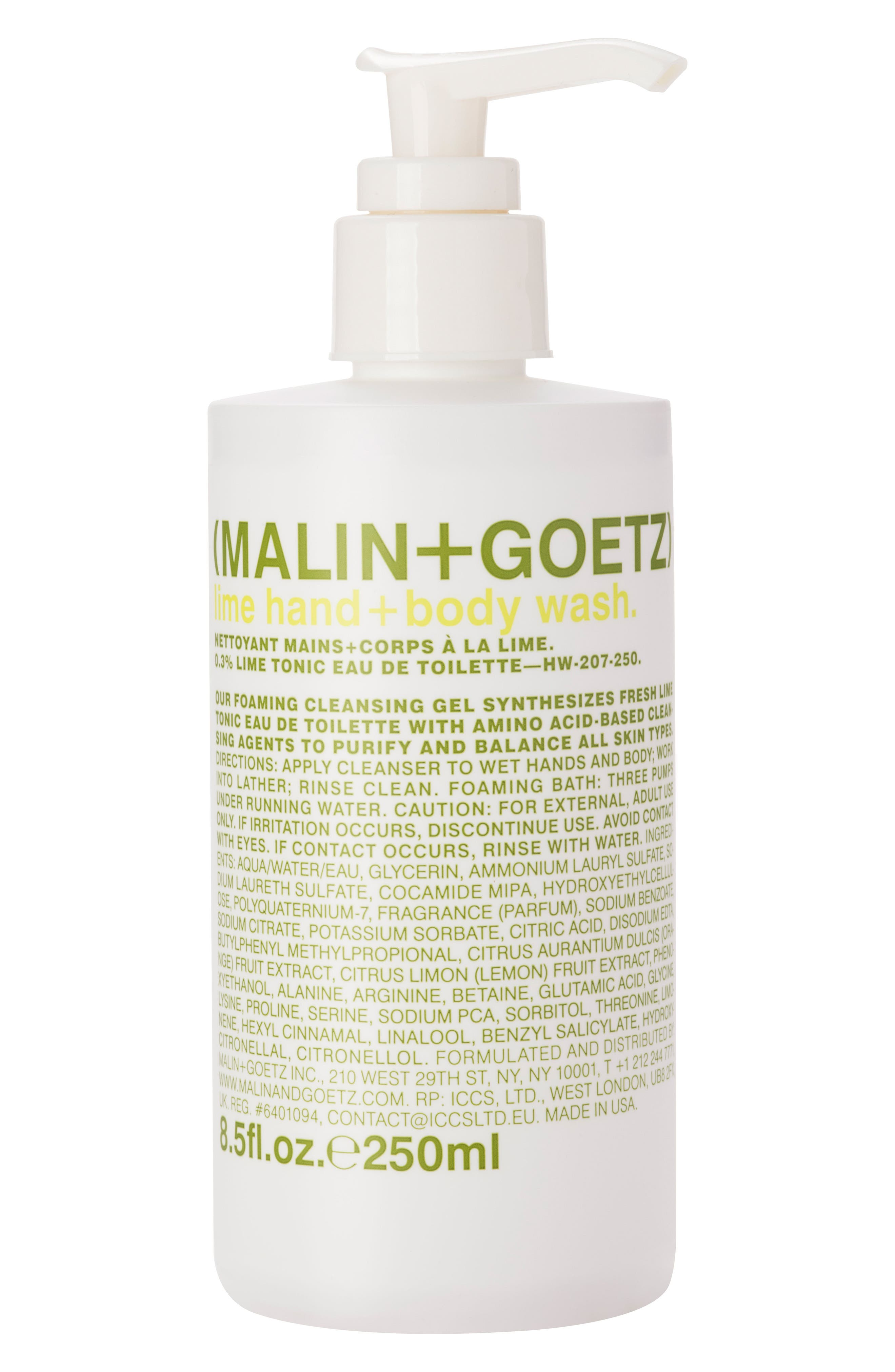 Lime Hand & Body Wash with Pump,                             Main thumbnail 1, color,                             NO COLOR