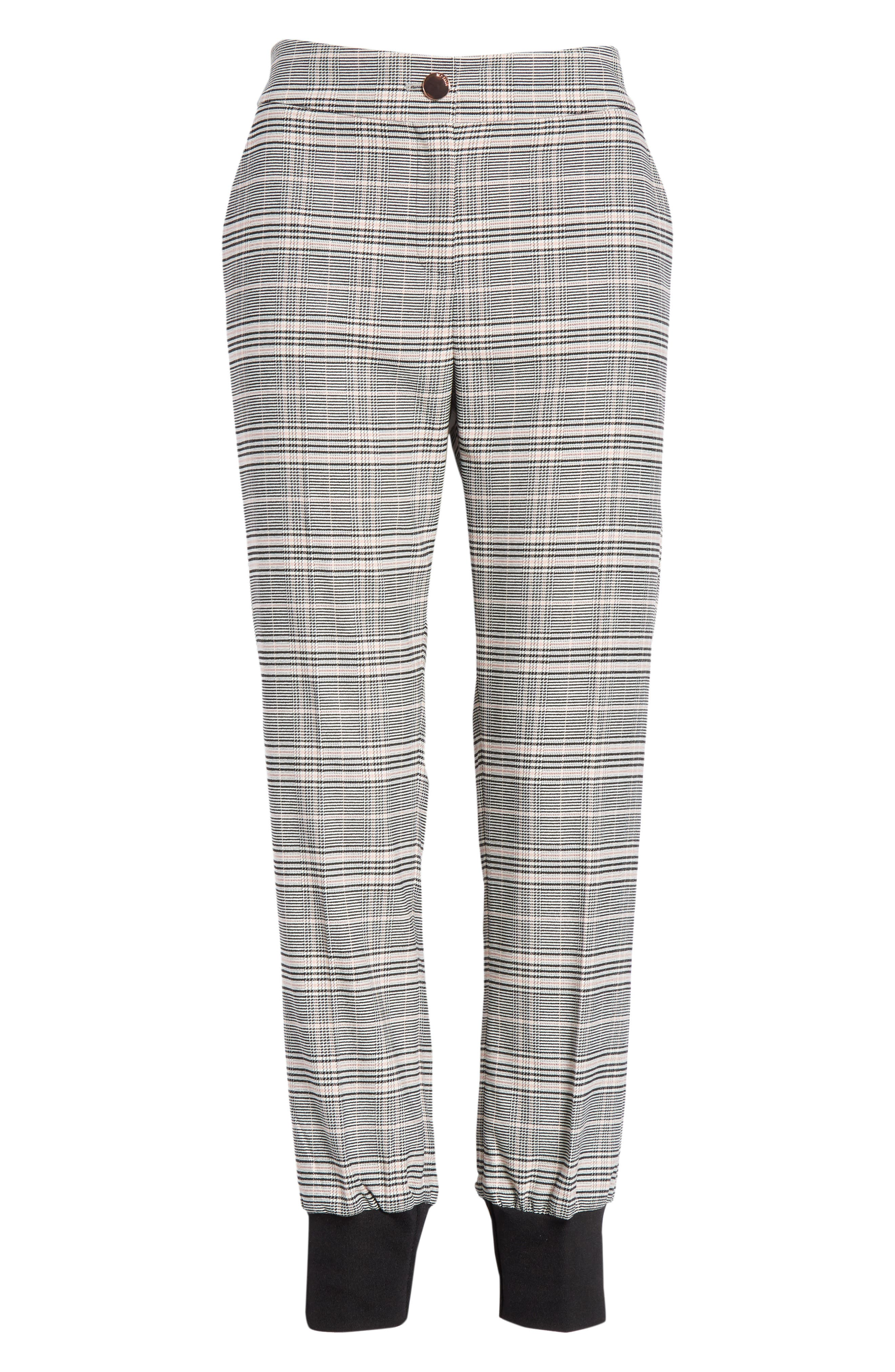Ted Working Title Kimmt Check Plaid Trousers,                             Alternate thumbnail 6, color,                             GREY