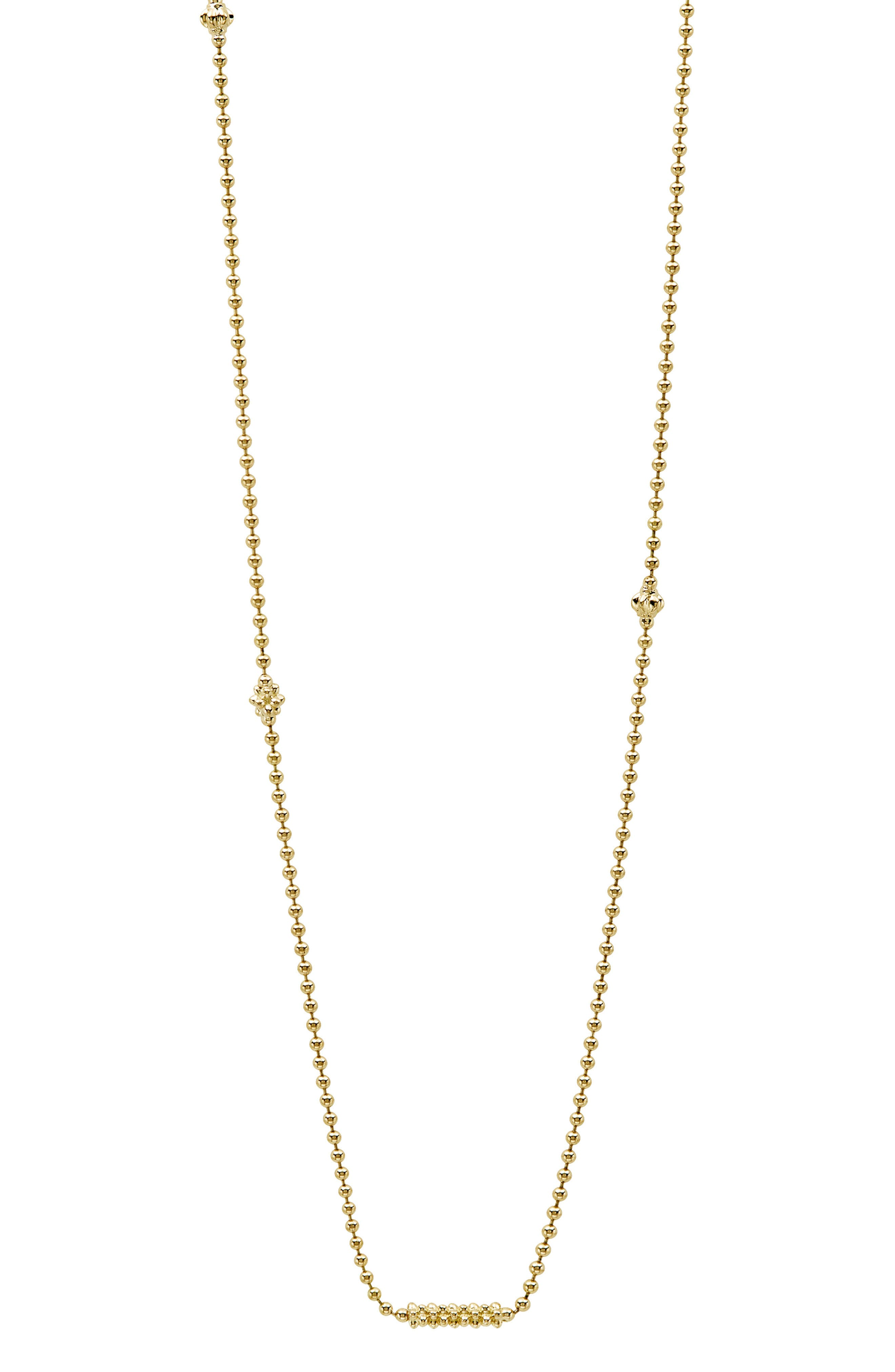 Caviar Bars & Cages Chain Necklace,                             Alternate thumbnail 2, color,                             GOLD