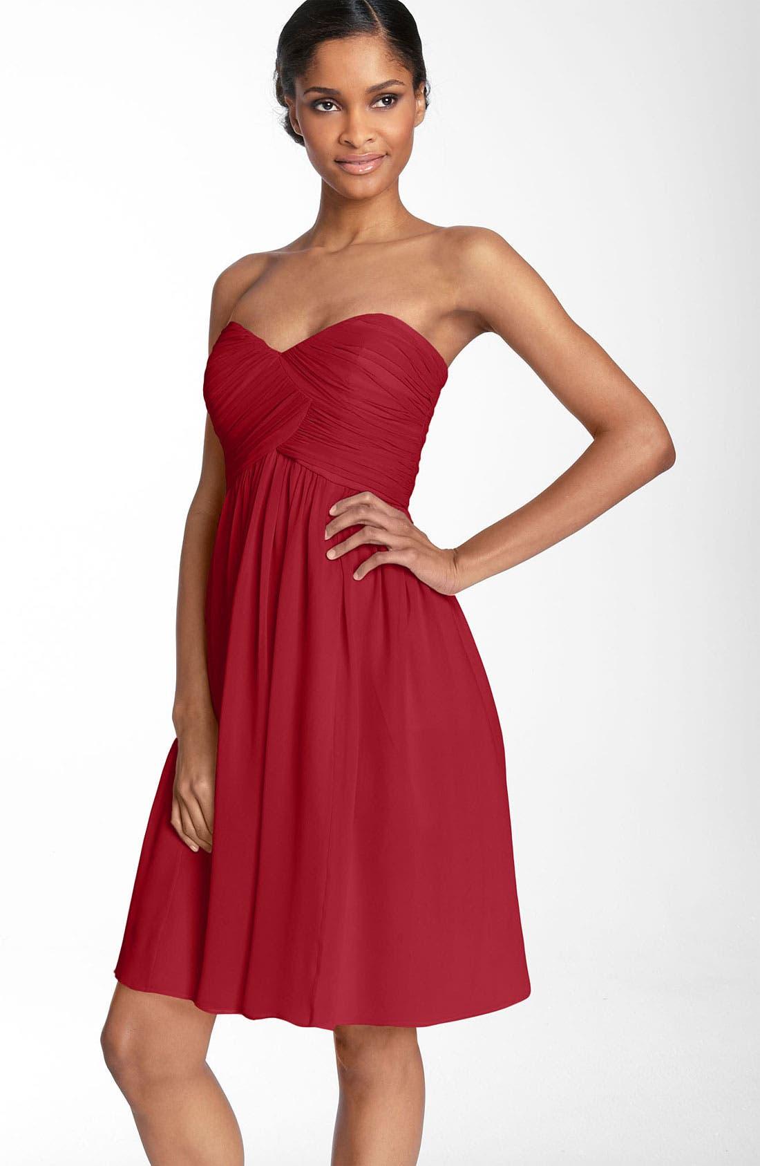 'Morgan' Strapless Silk Chiffon Dress,                             Main thumbnail 26, color,