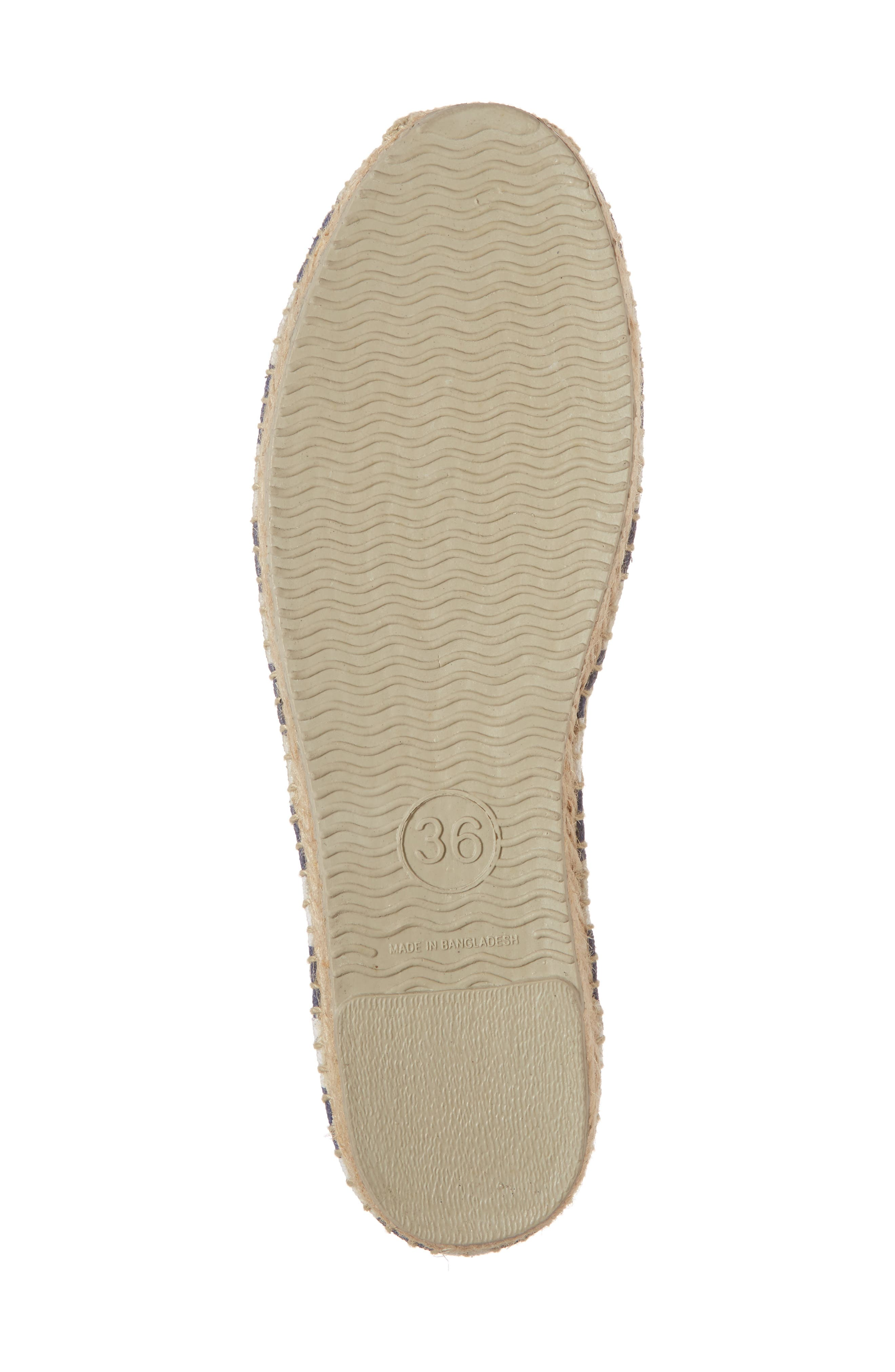 Embroidered Lobster & Crab Espadrille Flat,                             Alternate thumbnail 6, color,                             415