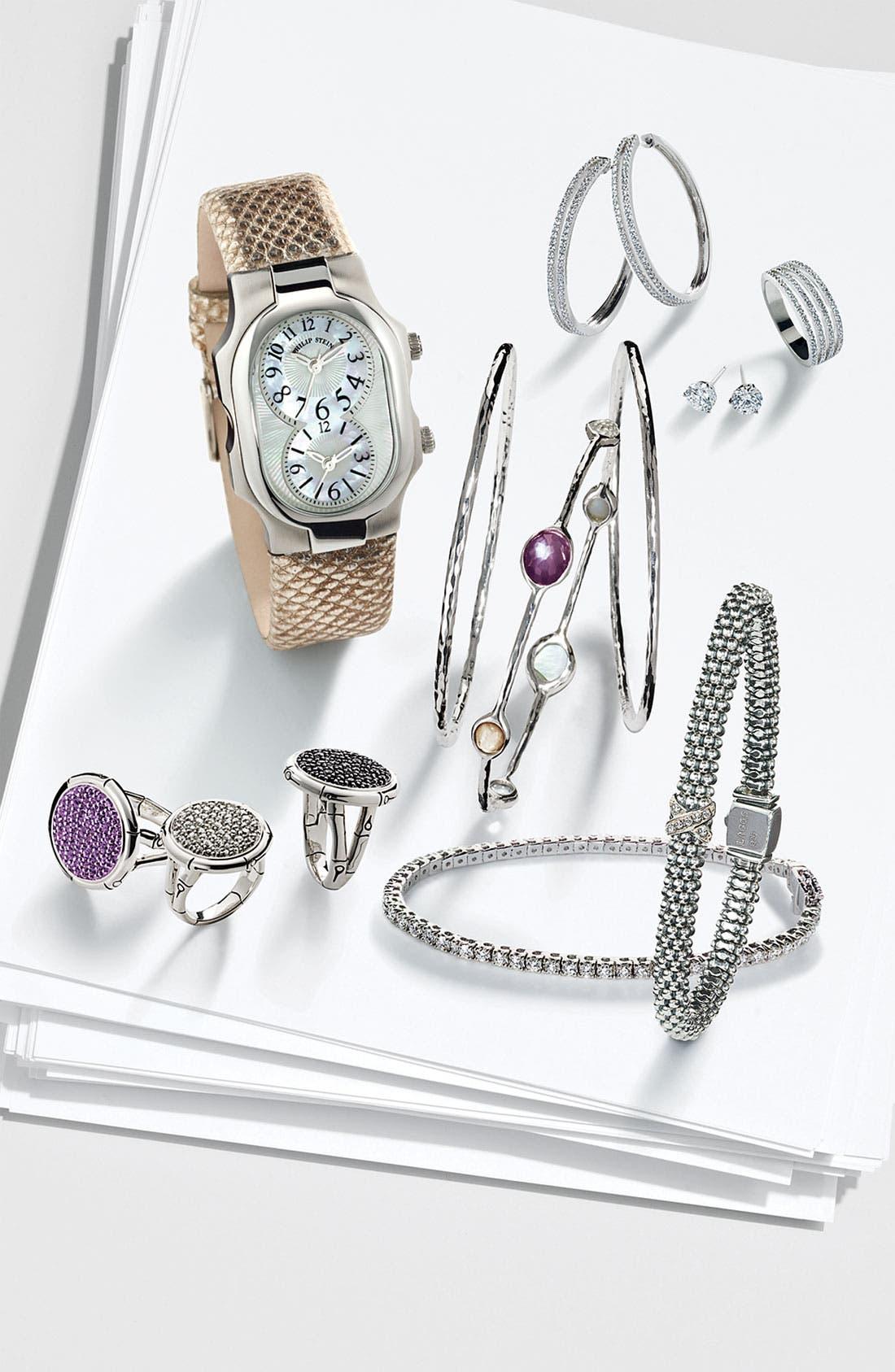 Riviera 2ct tw Diamond Tennis Bracelet,                             Alternate thumbnail 4, color,                             WHITE GOLD