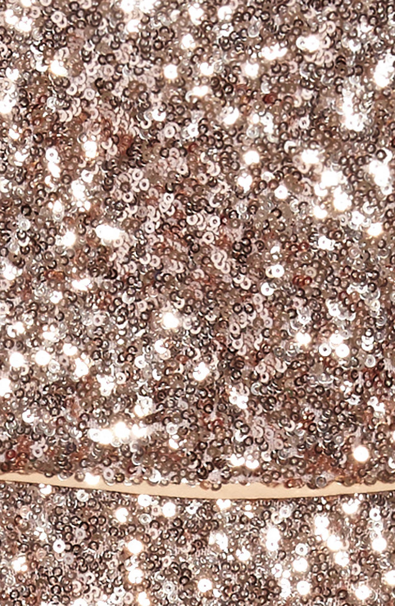 Ellie Sequin Strapless Dress,                             Alternate thumbnail 3, color,                             665