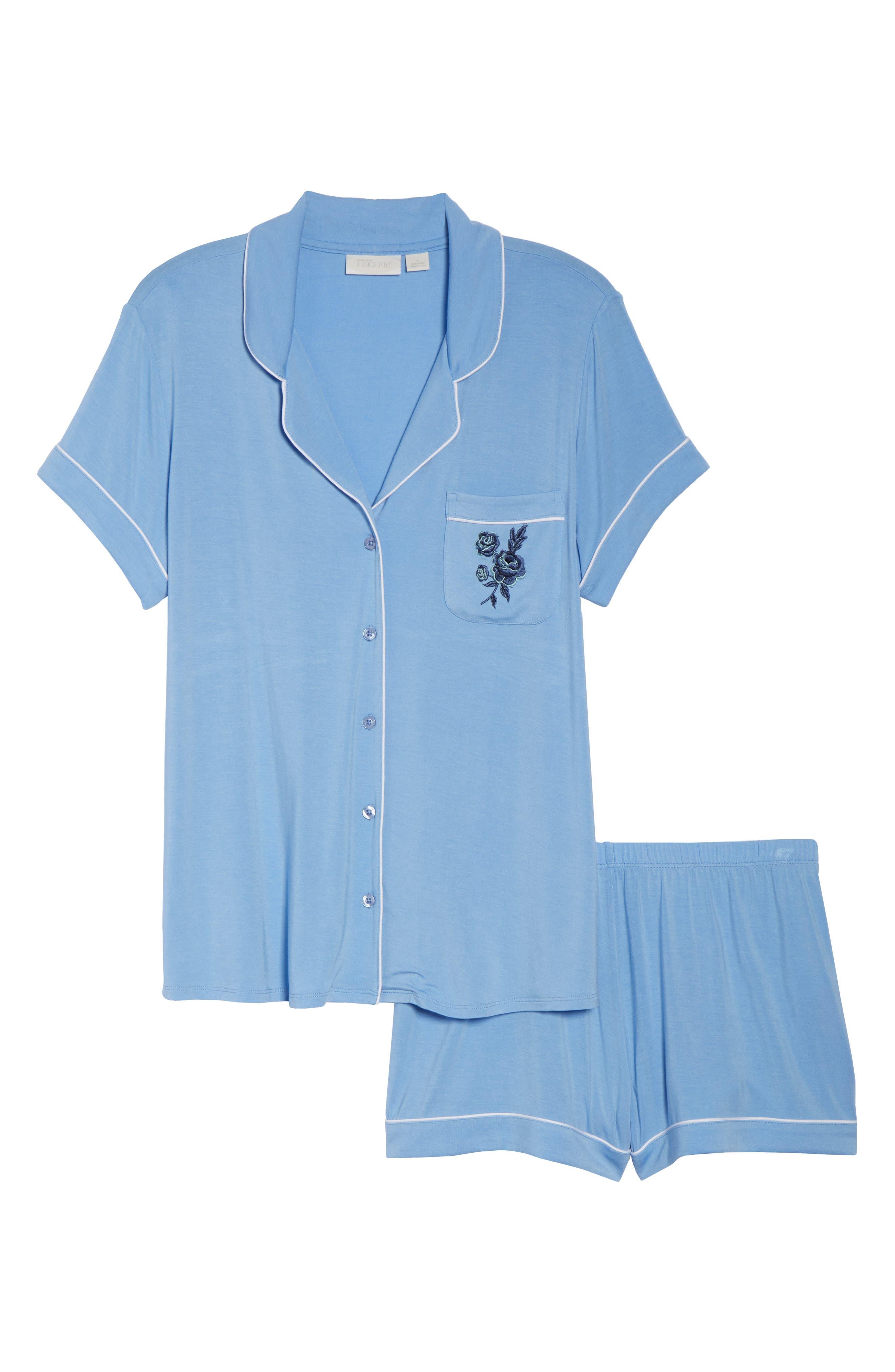 Moonlight Shortie Pajamas,                             Alternate thumbnail 6, color,                             421