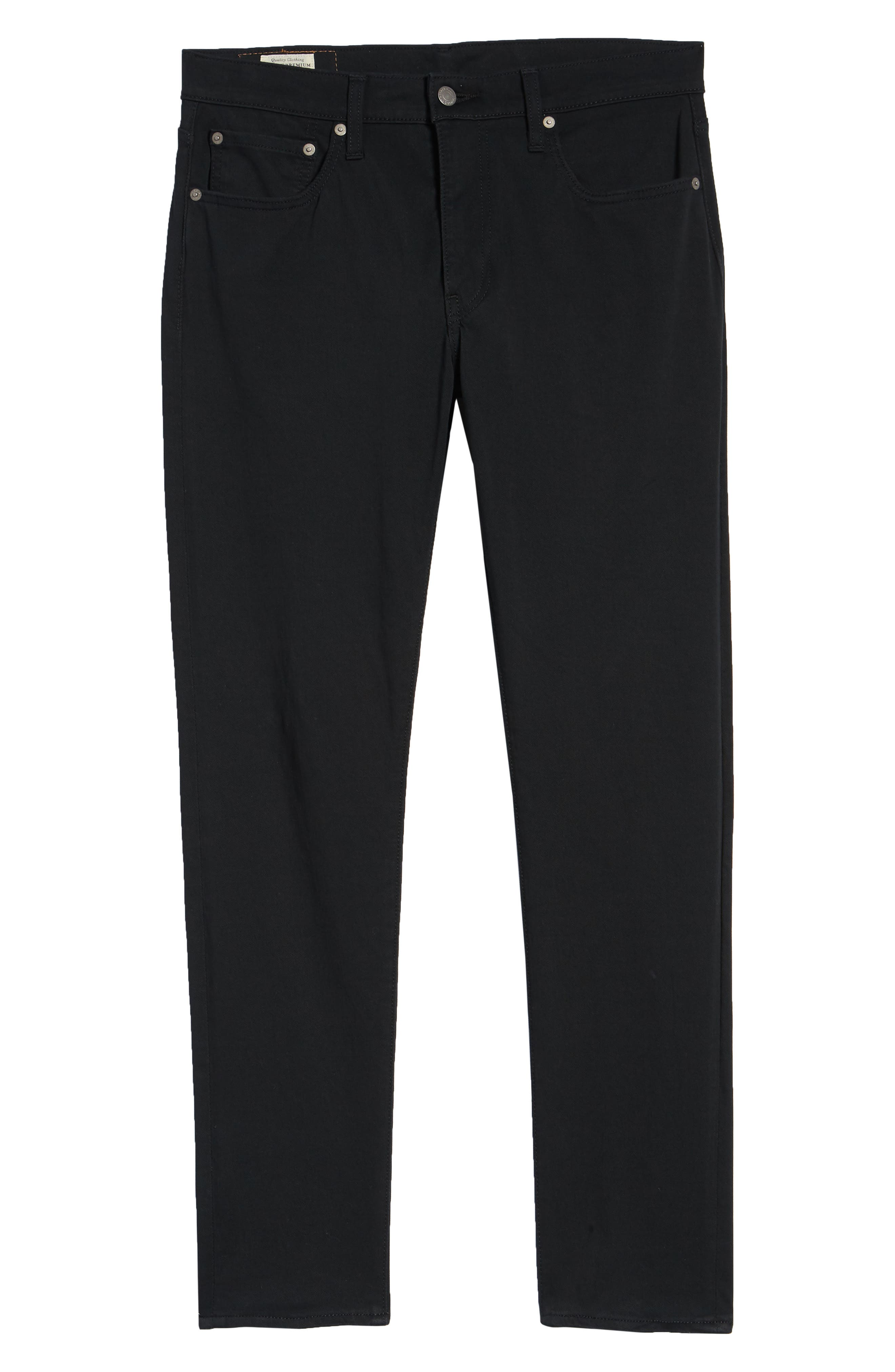 512<sup>™</sup> Slouchy Skinny Fit Twill Pants,                             Alternate thumbnail 6, color,                             BLACK WONDER KNIT TWILL