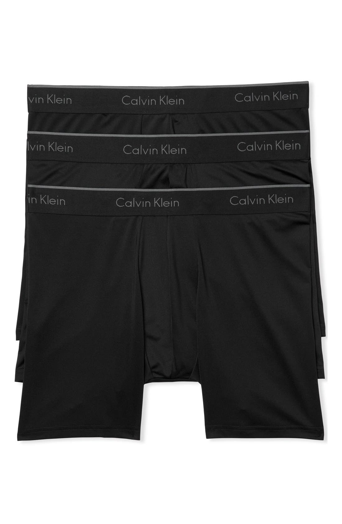 3-Pack Stretch Boxer Briefs,                             Main thumbnail 1, color,                             BLACK