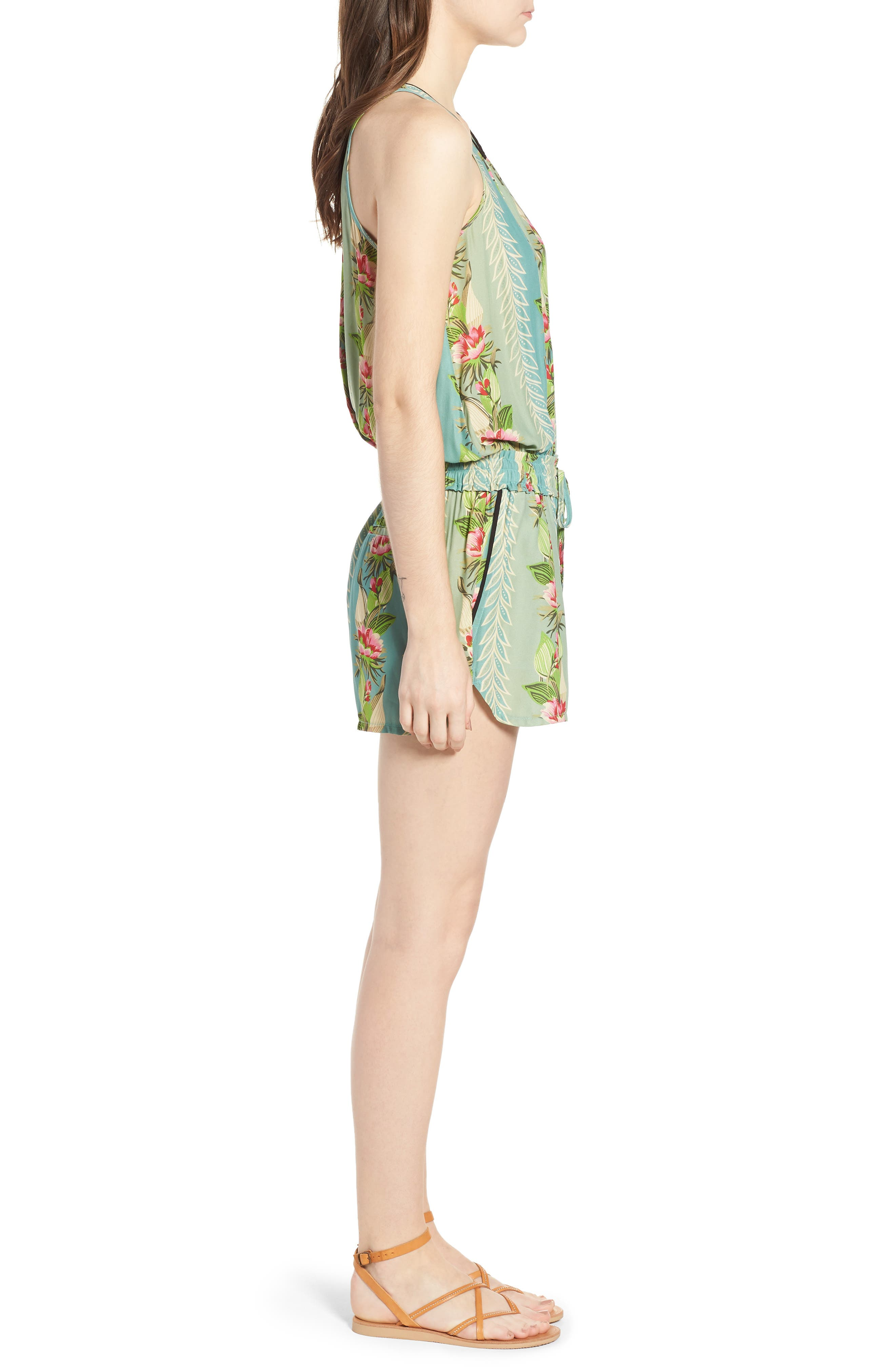 Print All in One Romper,                             Alternate thumbnail 3, color,                             440