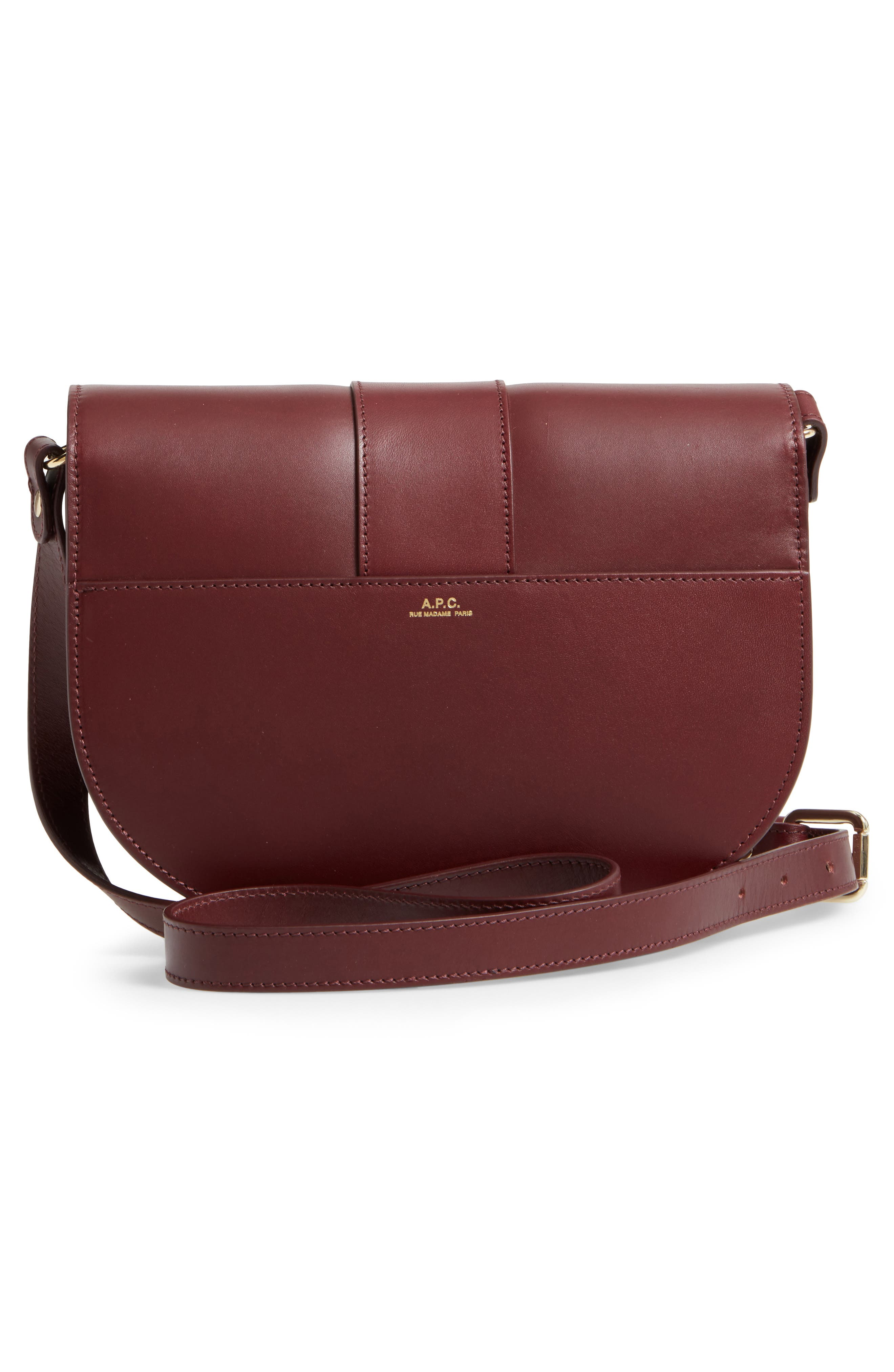 Soho Calfskin Leather Saddle Bag,                             Alternate thumbnail 3, color,                             600