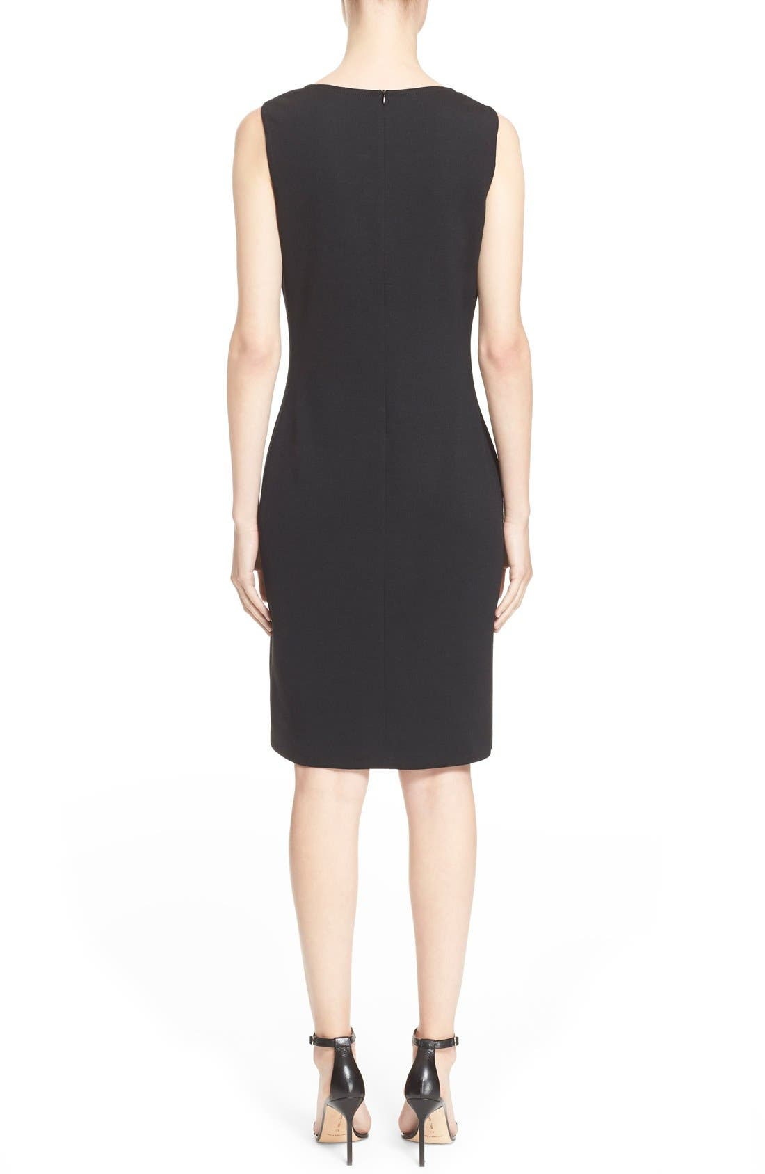 Milano Knit Sheath Dress,                             Alternate thumbnail 10, color,                             CAVIAR