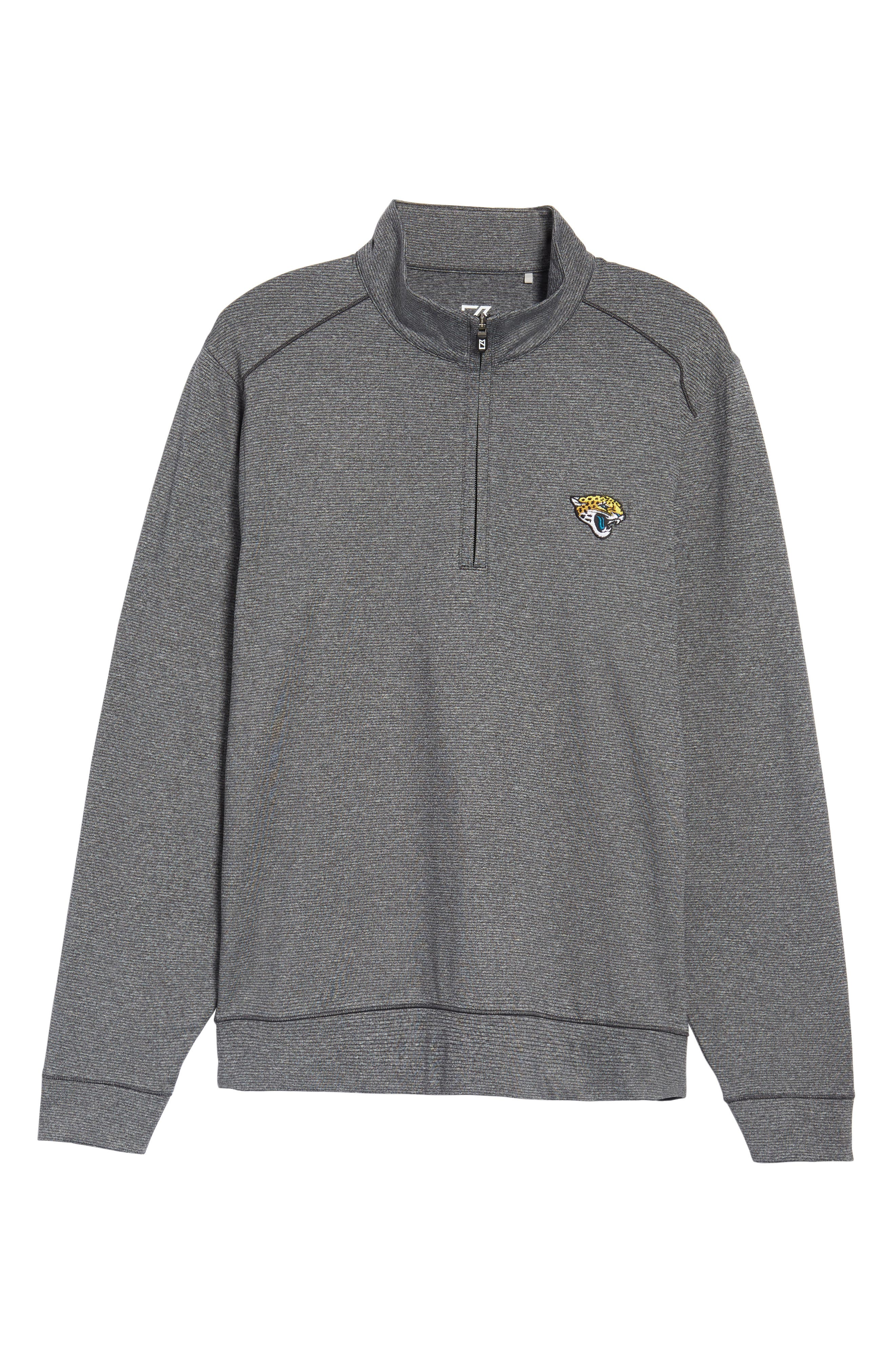 Shoreline - Jacksonville Jaguars Half Zip Pullover,                             Alternate thumbnail 6, color,